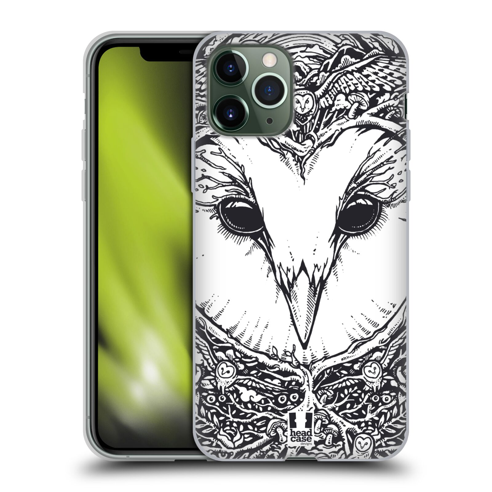 gucci iphone 8 plus case amazon - Silikonové pouzdro na mobil Apple iPhone 11 Pro - Head Case - DOODLE TVÁŘ SOVA