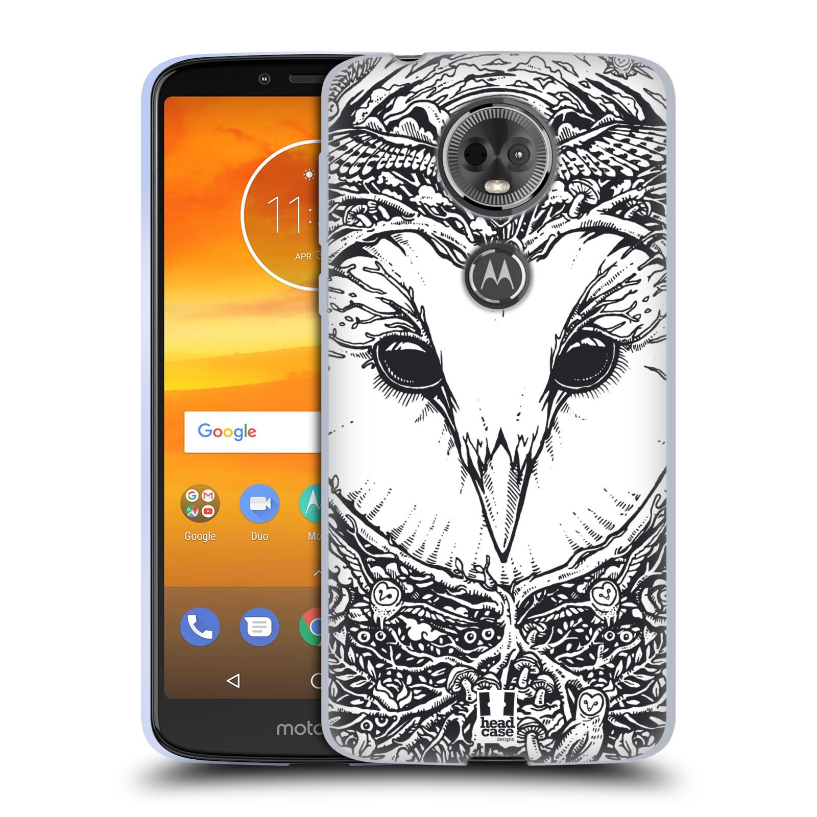 Silikonové pouzdro na mobil Motorola Moto E5 Plus - Head Case - DOODLE TVÁŘ SOVA