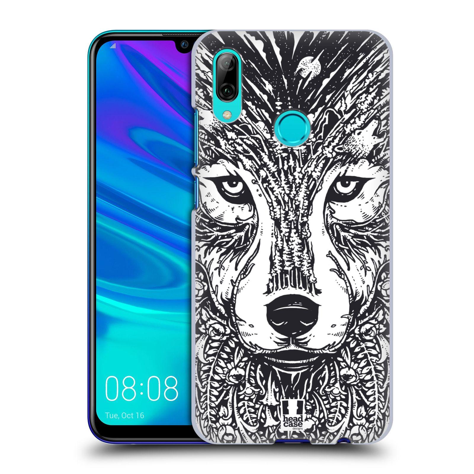 Plastové pouzdro na mobil Honor 10 Lite - Head Case - DOODLE TVÁŘ VLK