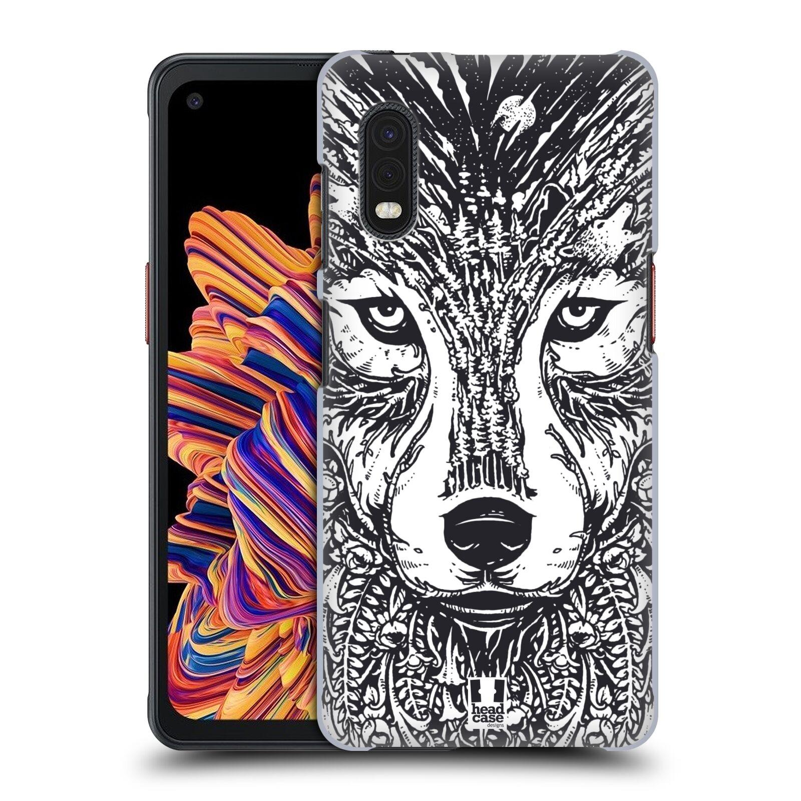 Plastové pouzdro na mobil Samsung Galaxy Xcover Pro - Head Case - DOODLE TVÁŘ VLK
