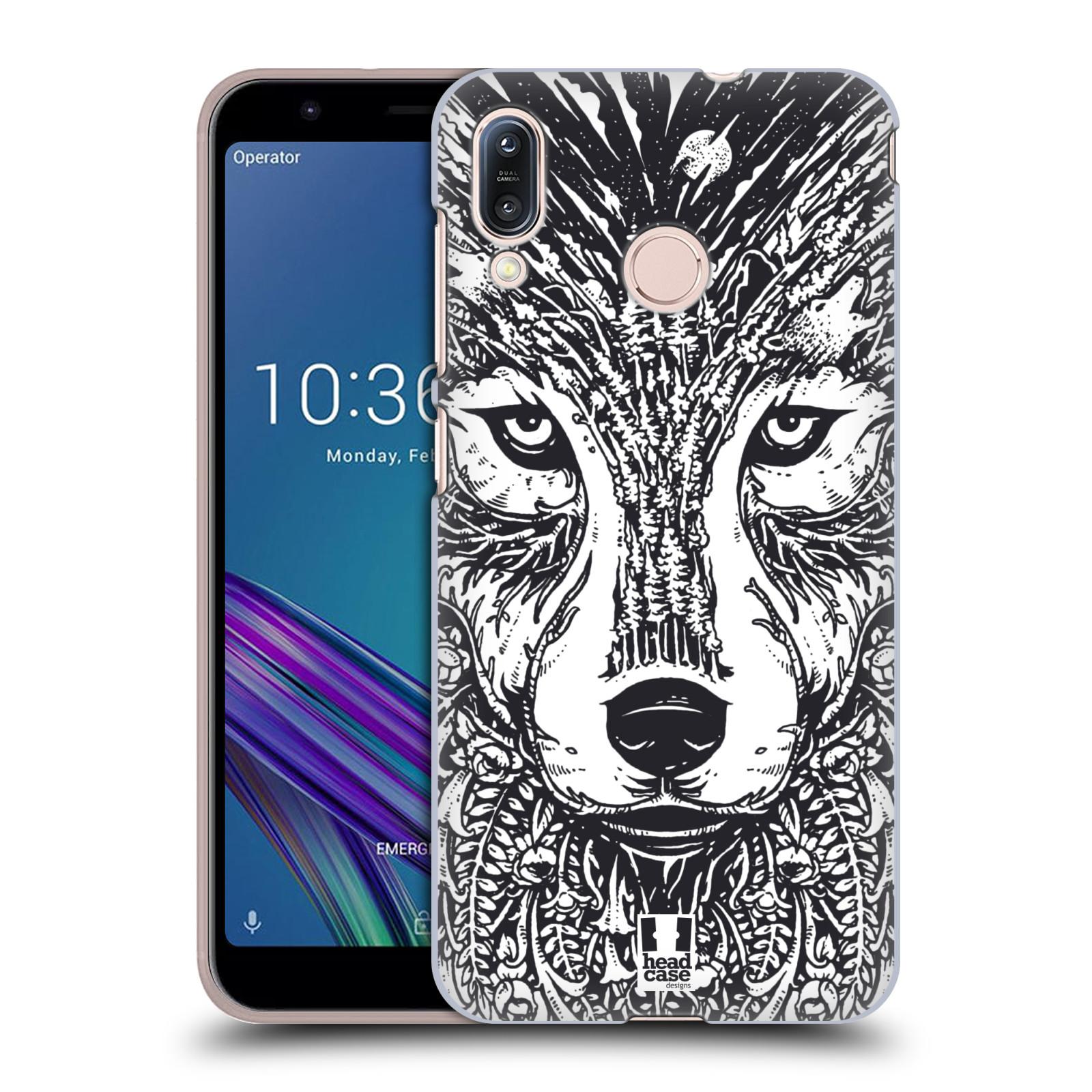 Plastové pouzdro na mobil Asus Zenfone Max M1 ZB555KL - Head Case - DOODLE TVÁŘ VLK