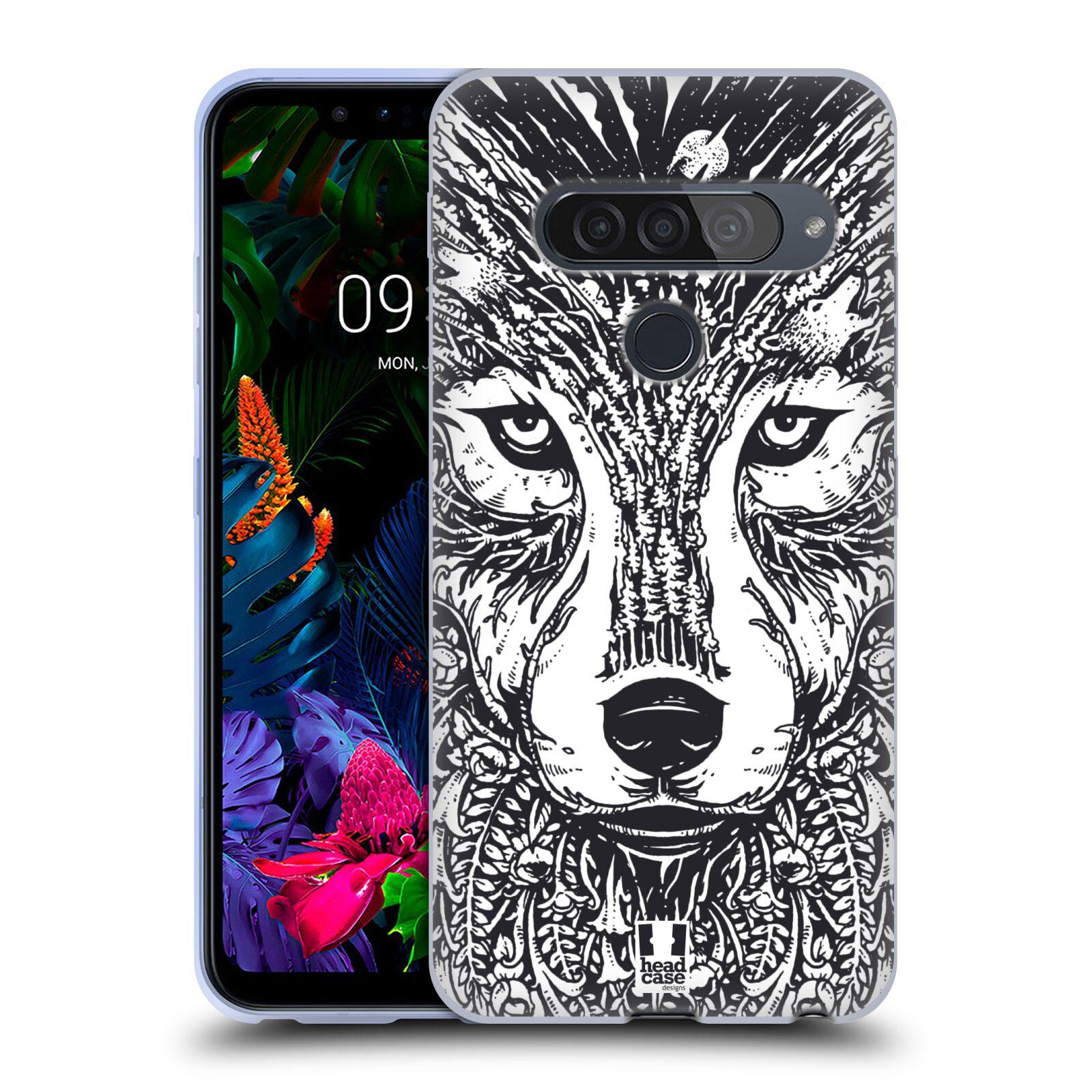 Silikonové pouzdro na mobil LG G8s ThinQ - Head Case - DOODLE TVÁŘ VLK