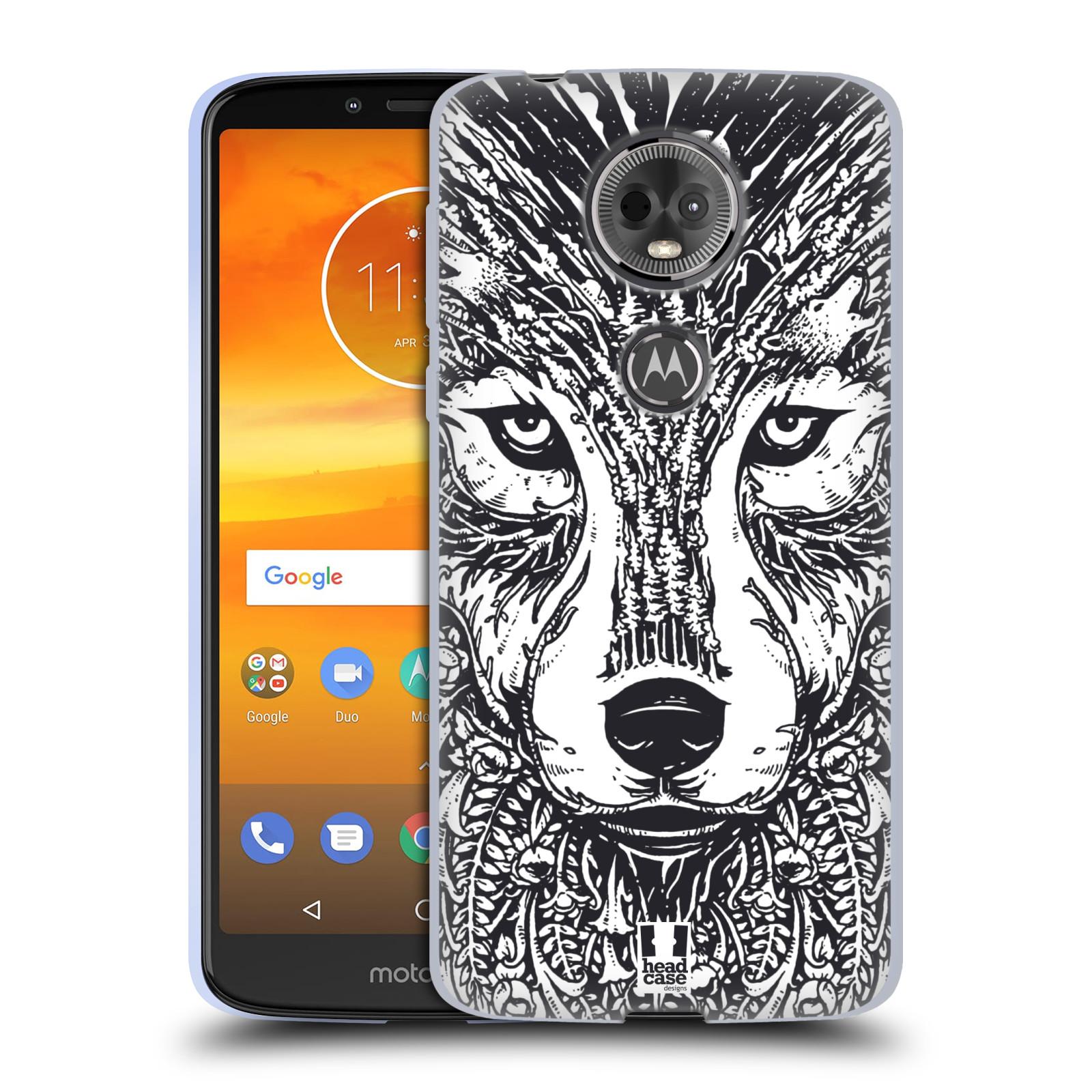 Silikonové pouzdro na mobil Motorola Moto E5 Plus - Head Case - DOODLE TVÁŘ VLK