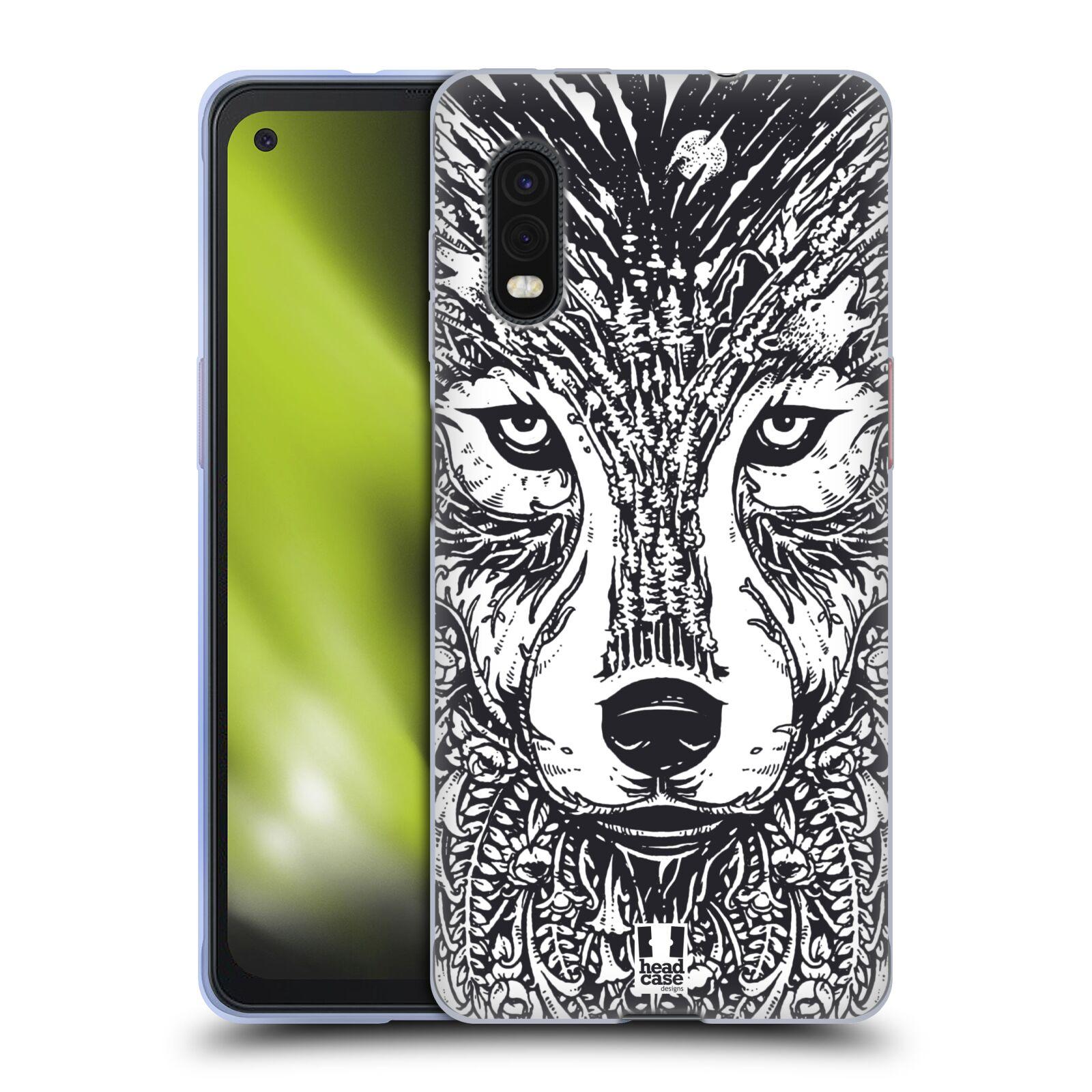 Silikonové pouzdro na mobil Samsung Galaxy Xcover Pro - Head Case - DOODLE TVÁŘ VLK
