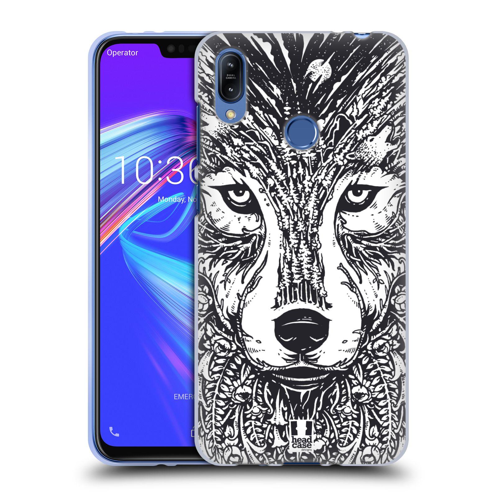 Silikonové pouzdro na mobil Asus Zenfone Max (M2) ZB633KL - Head Case - DOODLE TVÁŘ VLK