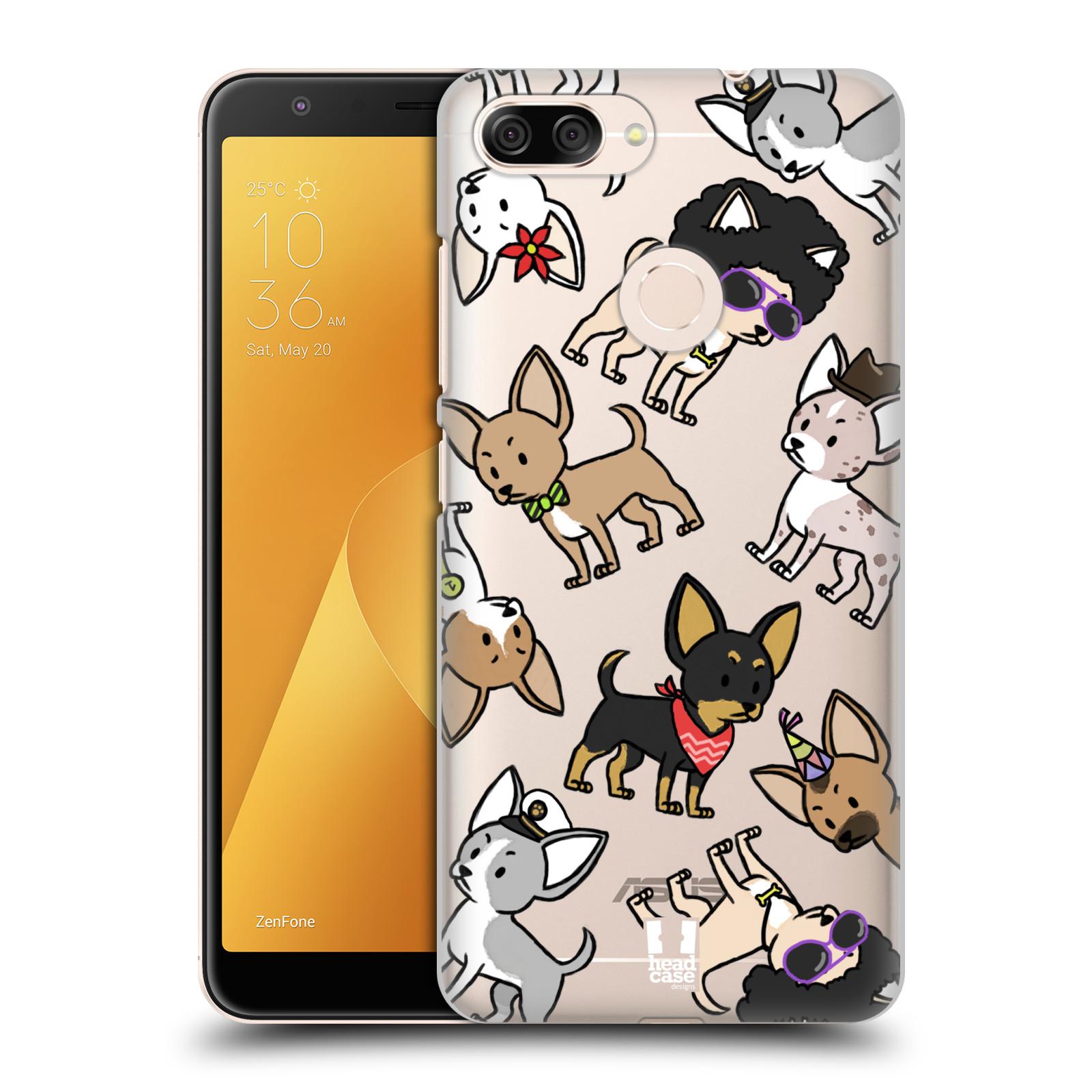 Plastové pouzdro na mobil Asus ZenFone Max Plus (M1) - Head Case - Čivavy (Plastový kryt či obal na mobilní telefon Asus ZenFone Max Plus M1 ZB570TL s motivem Čivavy)
