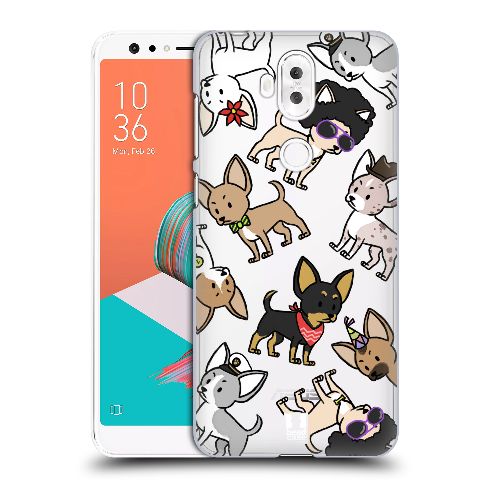 Plastové pouzdro na mobil Asus ZenFone 5 Lite ZC600KL - Head Case - Čivavy (Plastový kryt či obal na mobilní telefon Asus ZenFone 5 Lite (ZC600KL) s motivem Čivavy)