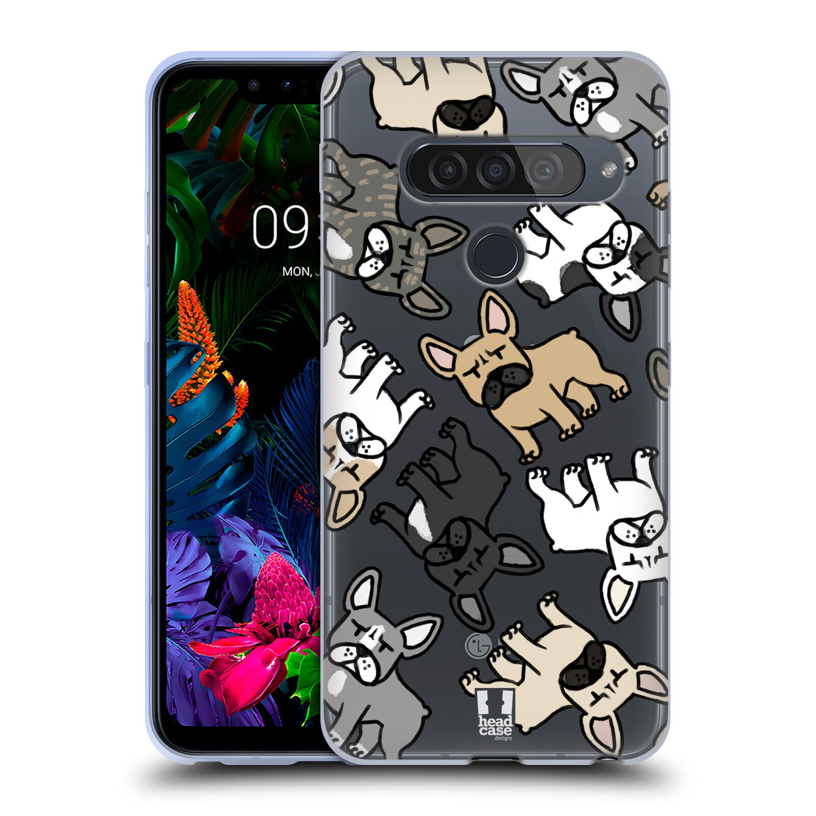 Silikonové pouzdro na mobil LG G8s ThinQ - Head Case - Francouzští buldočci