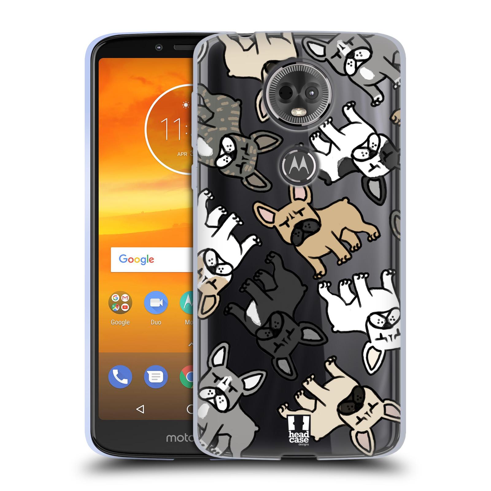 Silikonové pouzdro na mobil Motorola Moto E5 Plus - Head Case - Francouzští buldočci