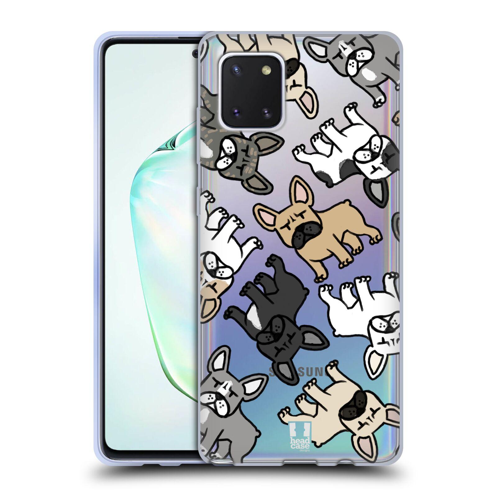 Silikonové pouzdro na mobil Samsung Galaxy Note 10 Lite - Head Case - Francouzští buldočci