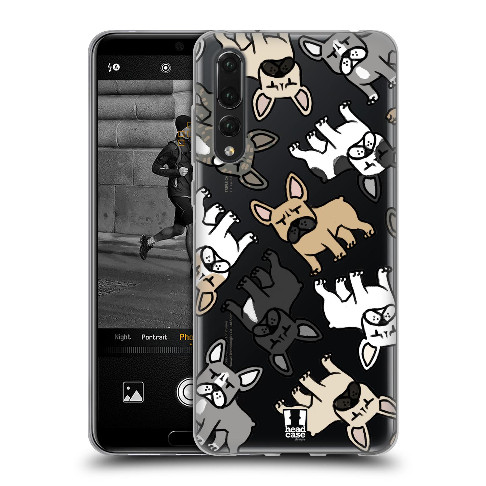 Silikonové pouzdro na mobil Huawei P20 Pro - Head Case - Francouzští buldočci