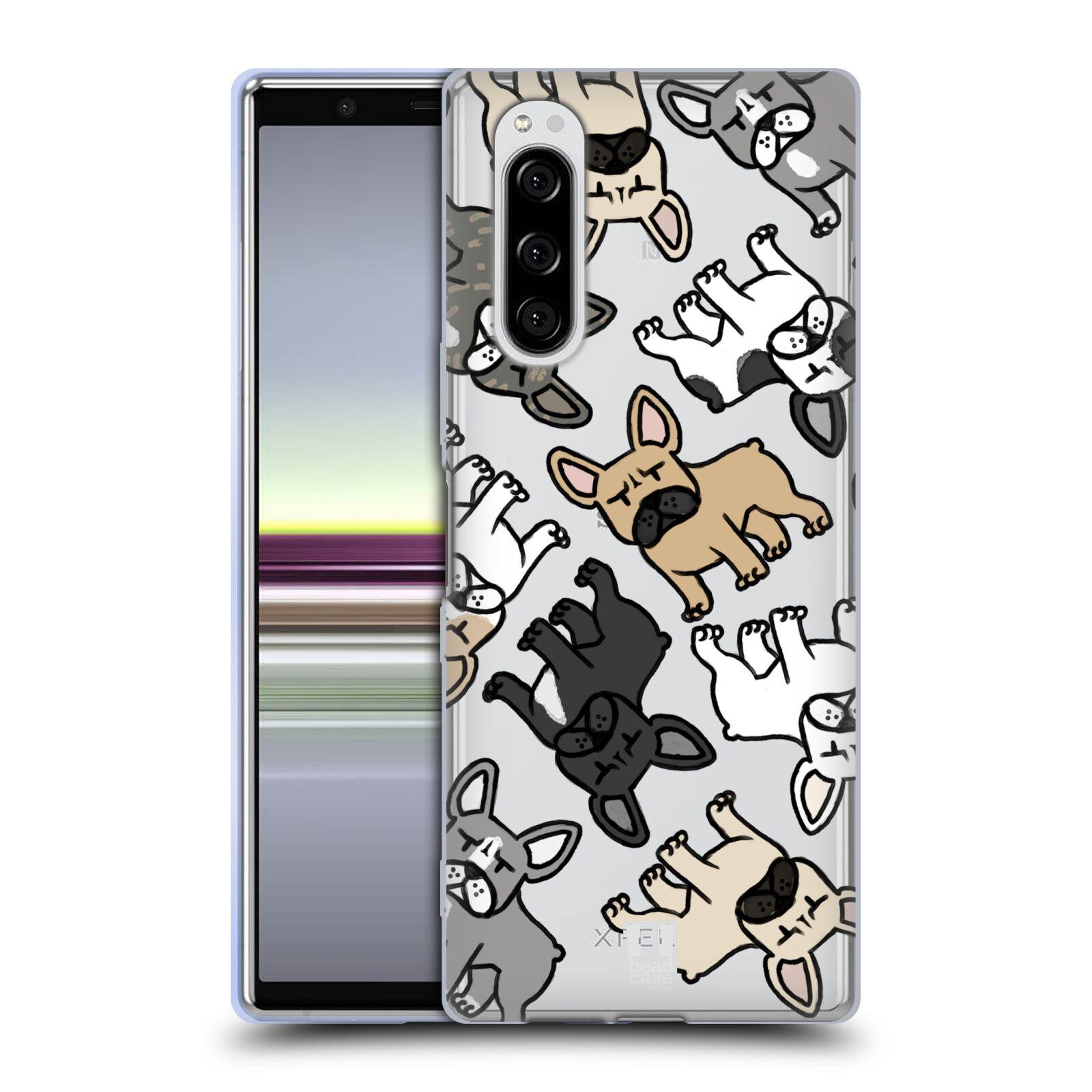 Silikonové pouzdro na mobil Sony Xperia 5 - Head Case - Francouzští buldočci