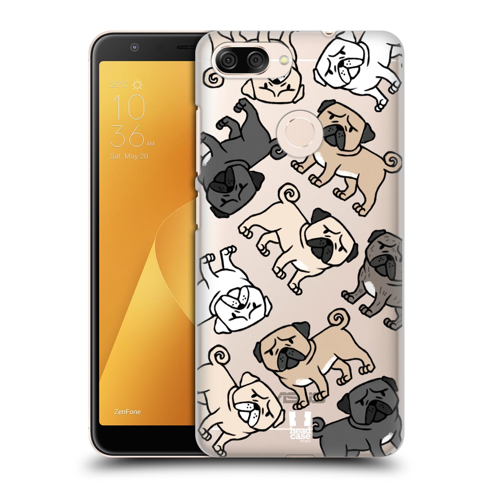 Plastové pouzdro na mobil Asus ZenFone Max Plus (M1) - Head Case - Mopsíci (Plastový kryt či obal na mobilní telefon Asus ZenFone Max Plus M1 ZB570TL s motivem Mopsíci)