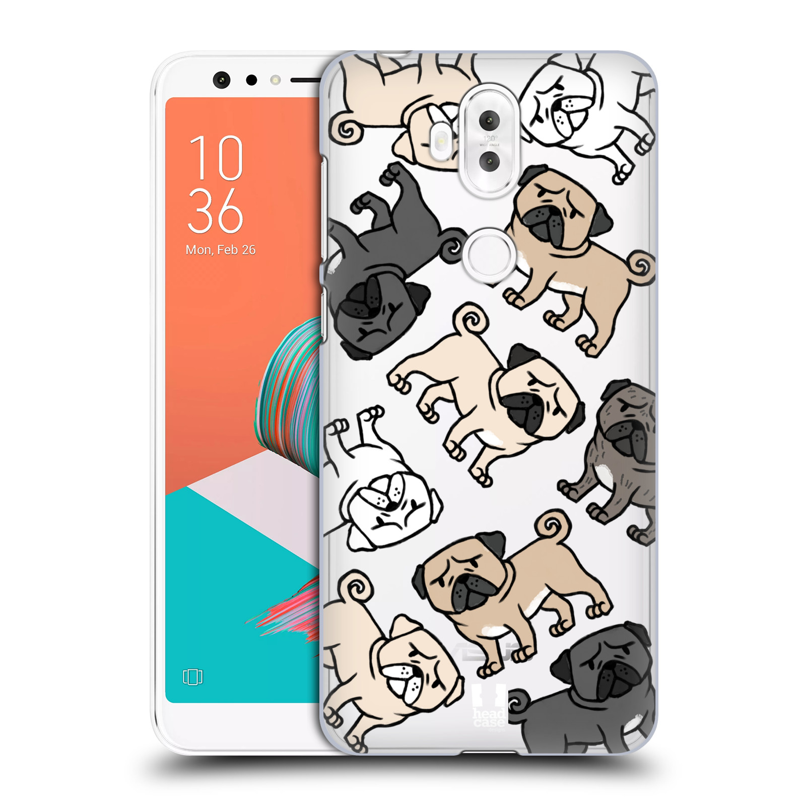 Plastové pouzdro na mobil Asus ZenFone 5 Lite ZC600KL - Head Case - Mopsíci (Plastový kryt či obal na mobilní telefon Asus ZenFone 5 Lite (ZC600KL) s motivem Mopsíci)