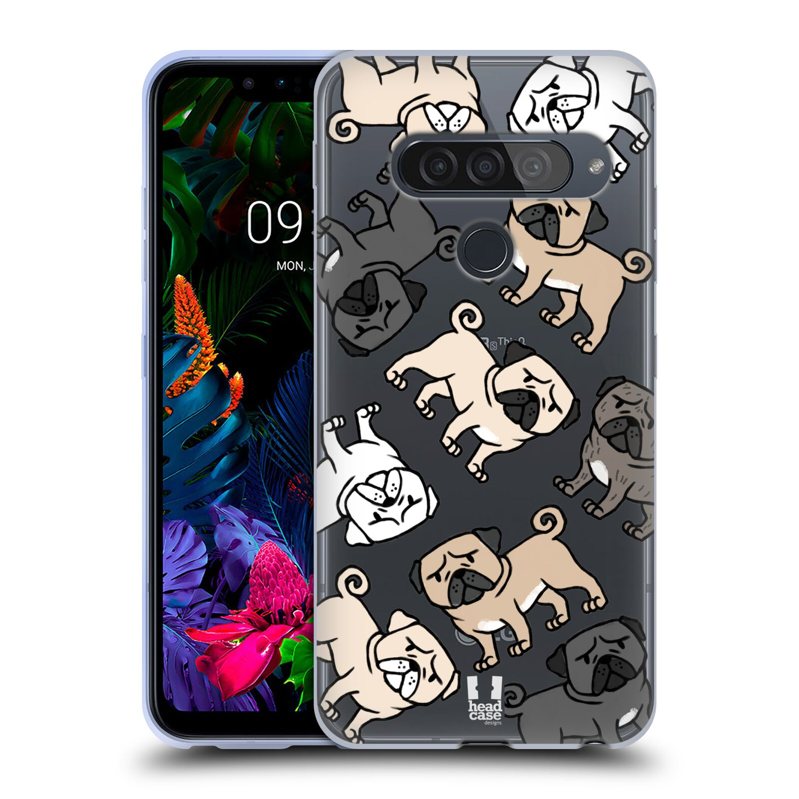 Silikonové pouzdro na mobil LG G8s ThinQ - Head Case - Mopsíci