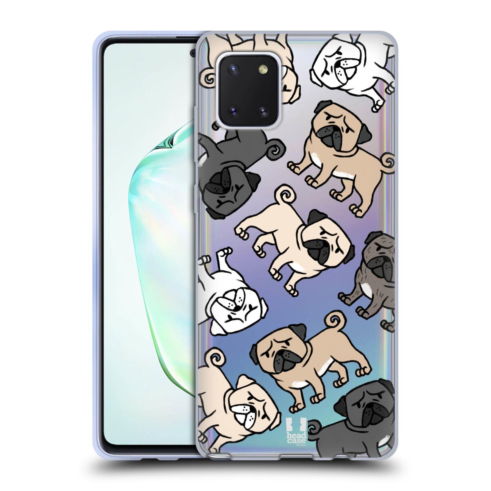 Silikonové pouzdro na mobil Samsung Galaxy Note 10 Lite - Head Case - Mopsíci