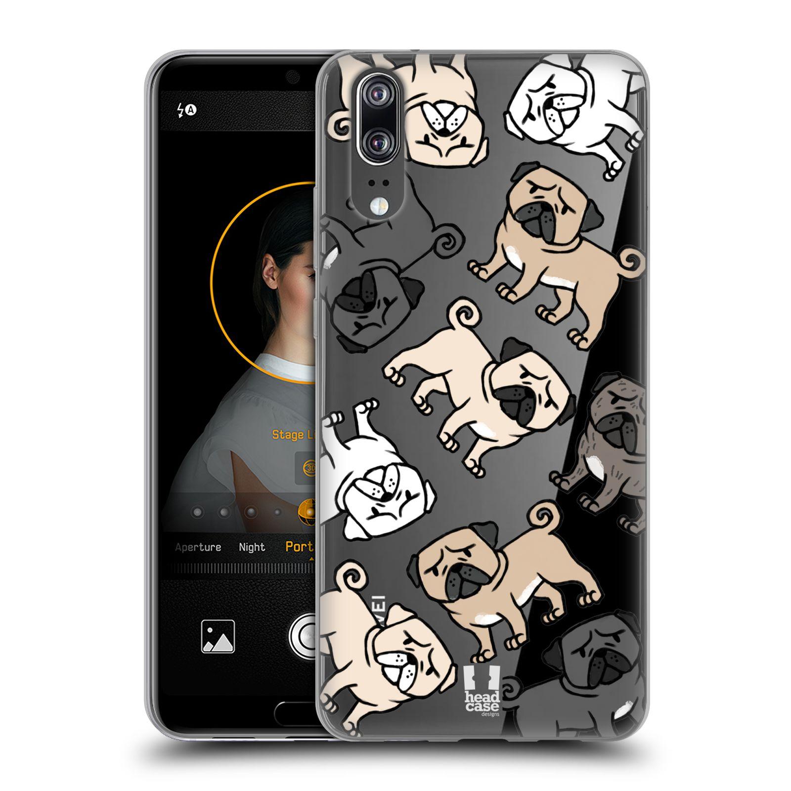 Silikonové pouzdro na mobil Huawei P20 - Head Case - Mopsíci ... 9ca4fbe2cce