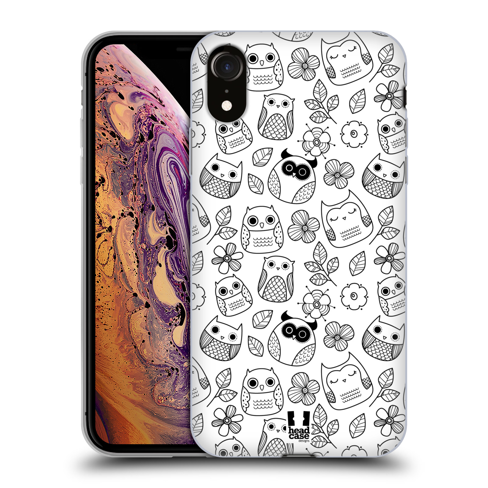 Silikonové pouzdro na mobil Apple iPhone XR - Head Case - SOVIČKY A KYTIČKY