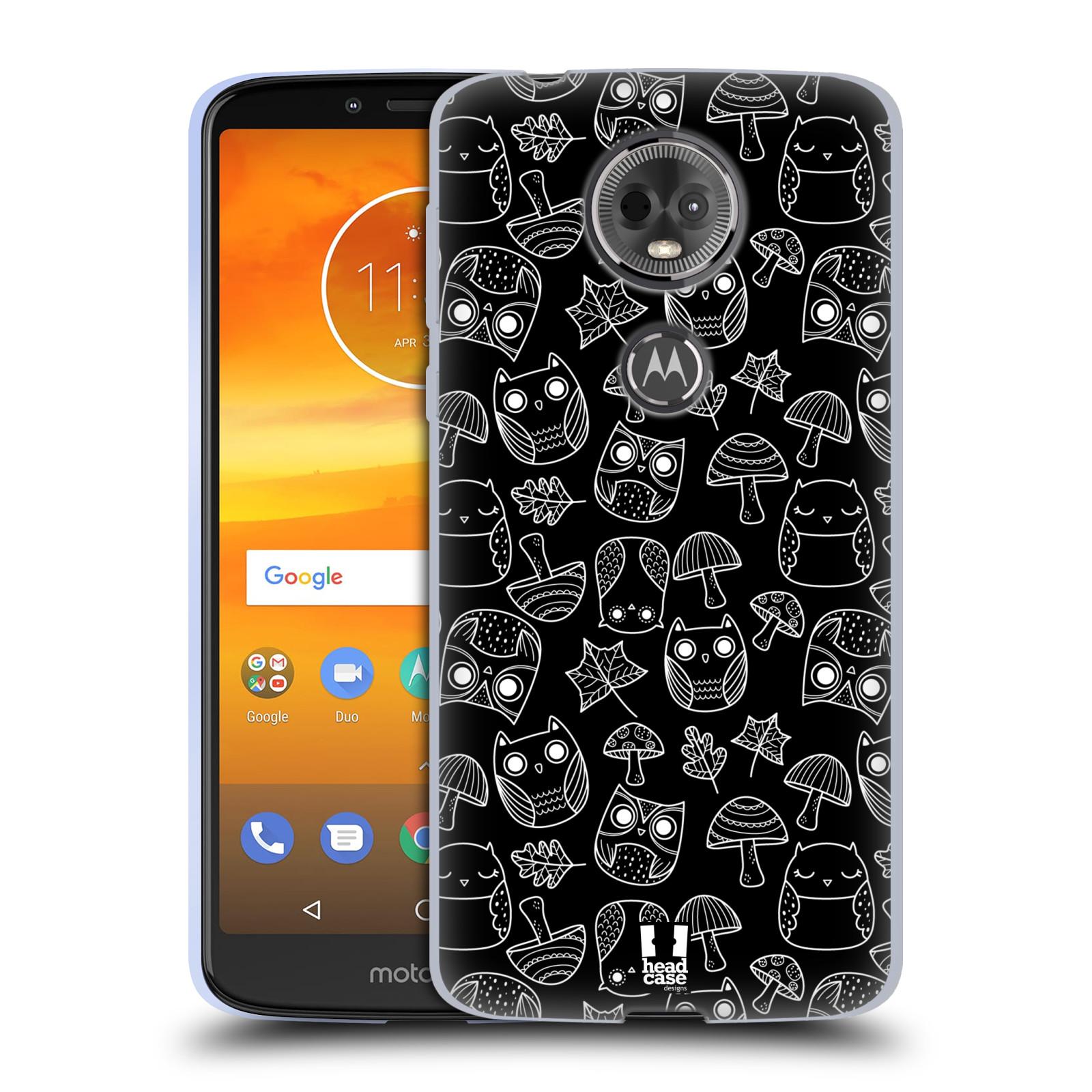 Silikonové pouzdro na mobil Motorola Moto E5 Plus - Head Case - SOVIČKY A HOUBIČKY