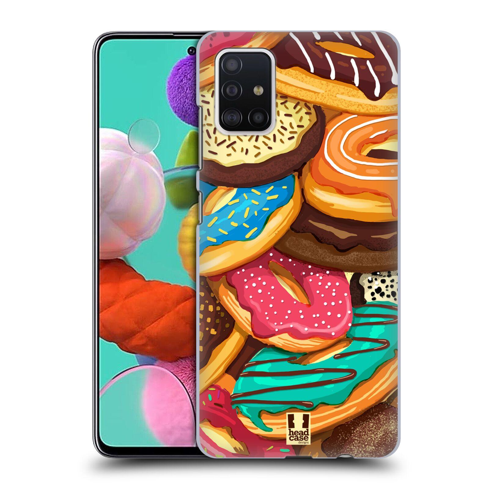 Plastové pouzdro na mobil Samsung Galaxy A51 - Head Case - DONUTKY VŠUDE