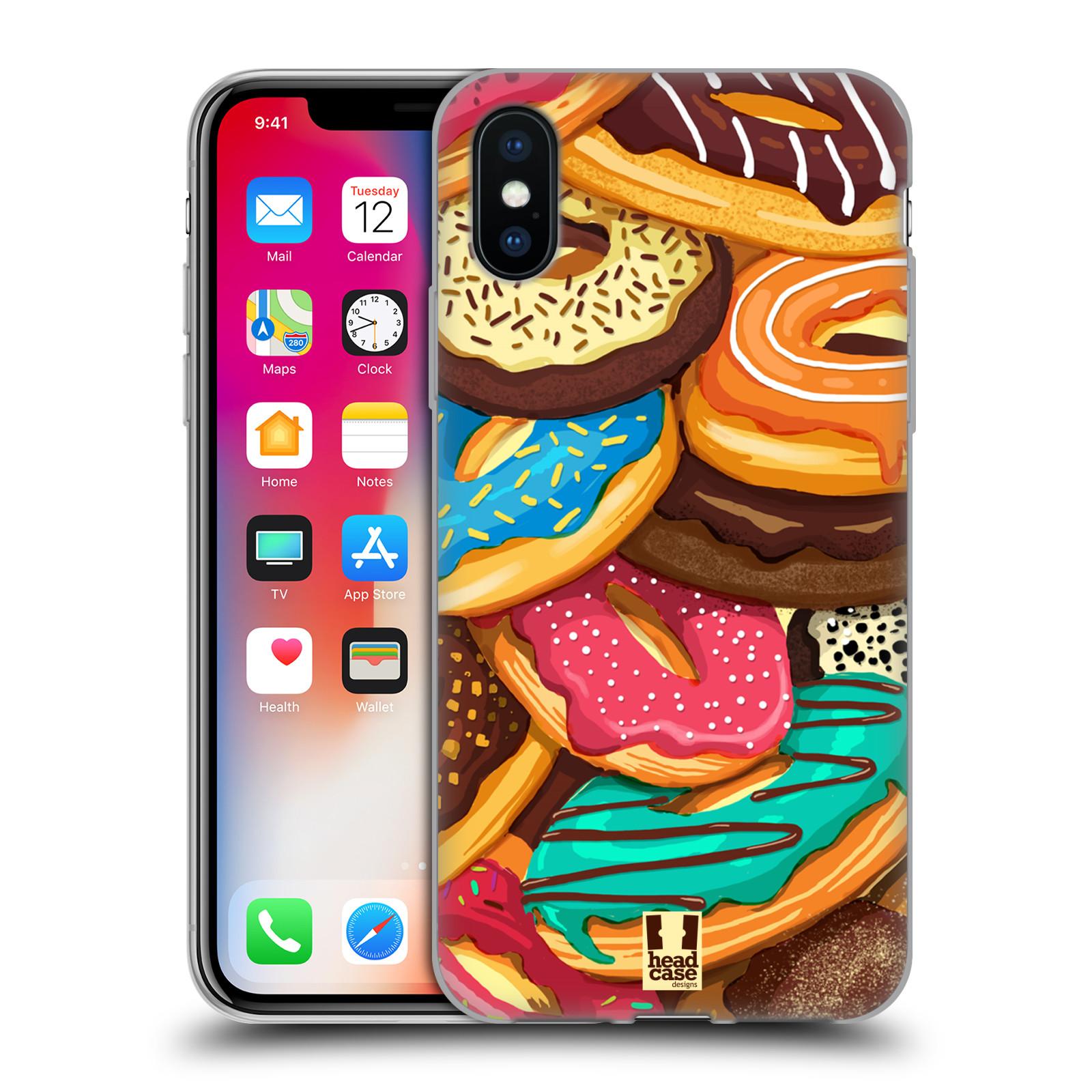 Silikonové pouzdro na mobil Apple iPhone XS - Head Case - DONUTKY VŠUDE