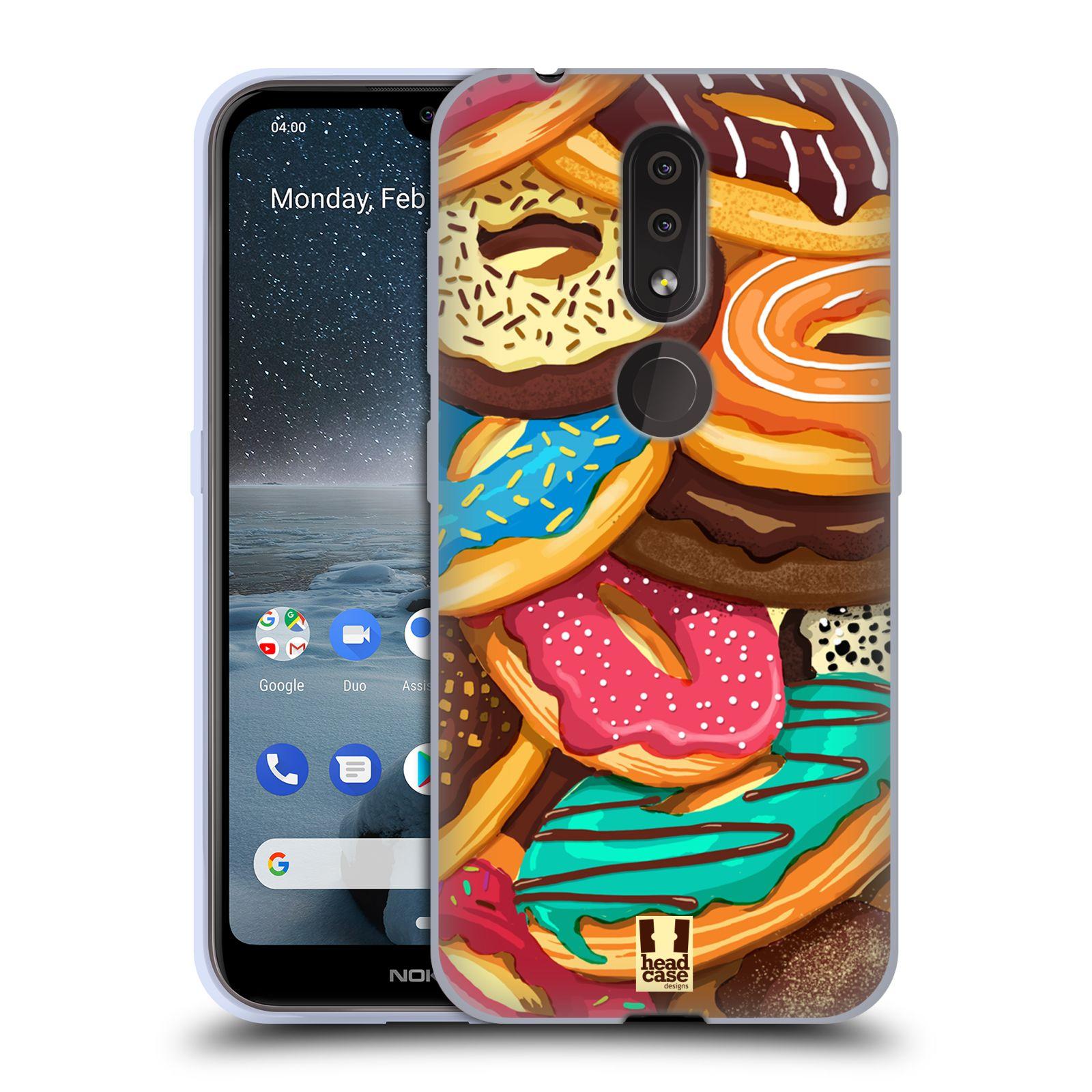 Silikonové pouzdro na mobil Nokia 4.2 - Head Case - DONUTKY VŠUDE