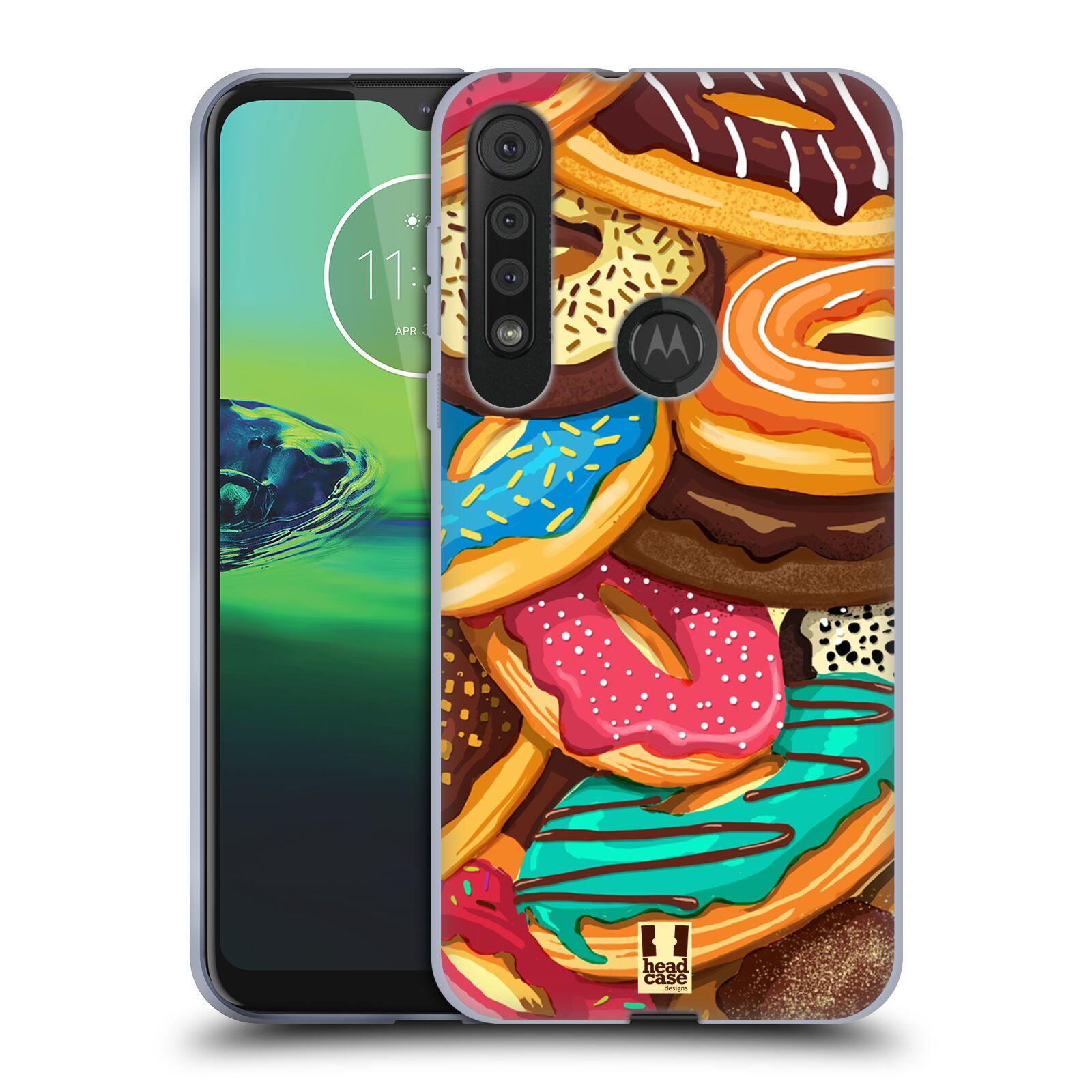 Silikonové pouzdro na mobil Motorola One Macro - Head Case - DONUTKY VŠUDE