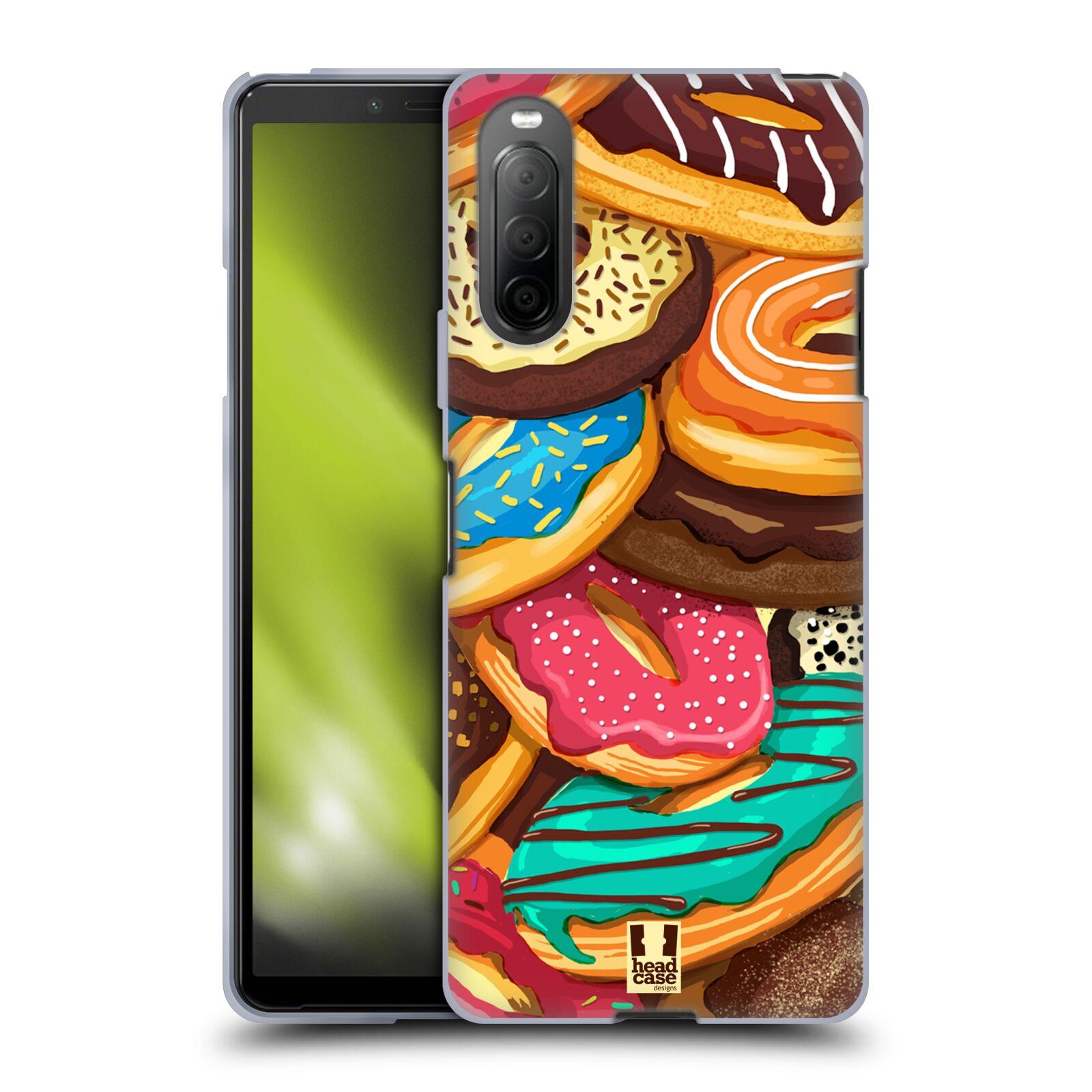 Silikonové pouzdro na mobil Sony Xperia 10 II - Head Case - DONUTKY VŠUDE