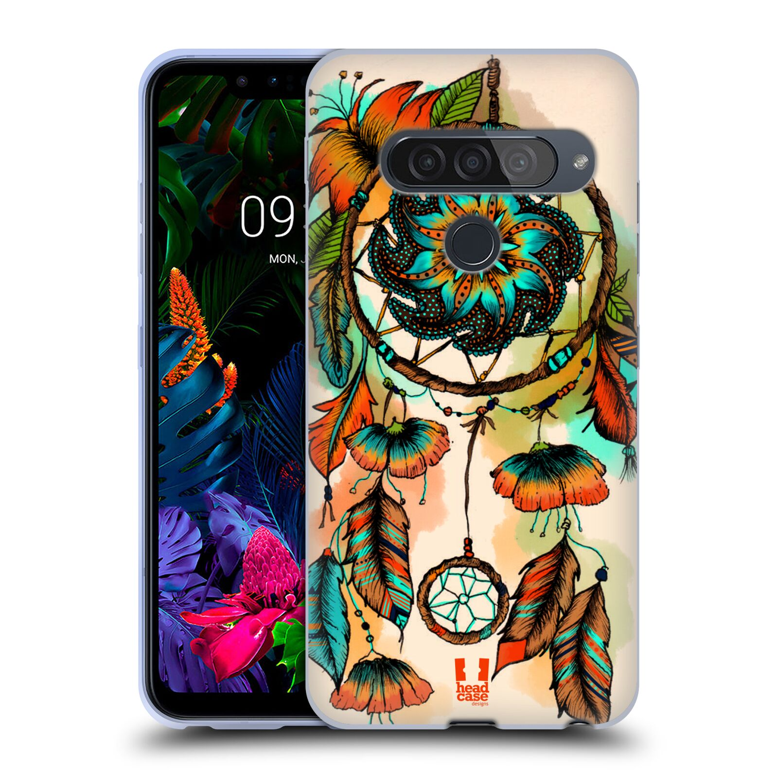 Silikonové pouzdro na mobil LG G8s ThinQ - Head Case - BLOOM APRICOT