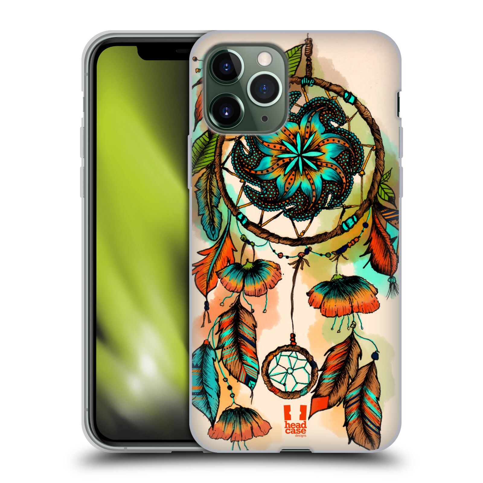 kryt na iphone 8 mercedes , Silikonové pouzdro na mobil Apple iPhone 11 Pro - Head Case - BLOOM APRICOT