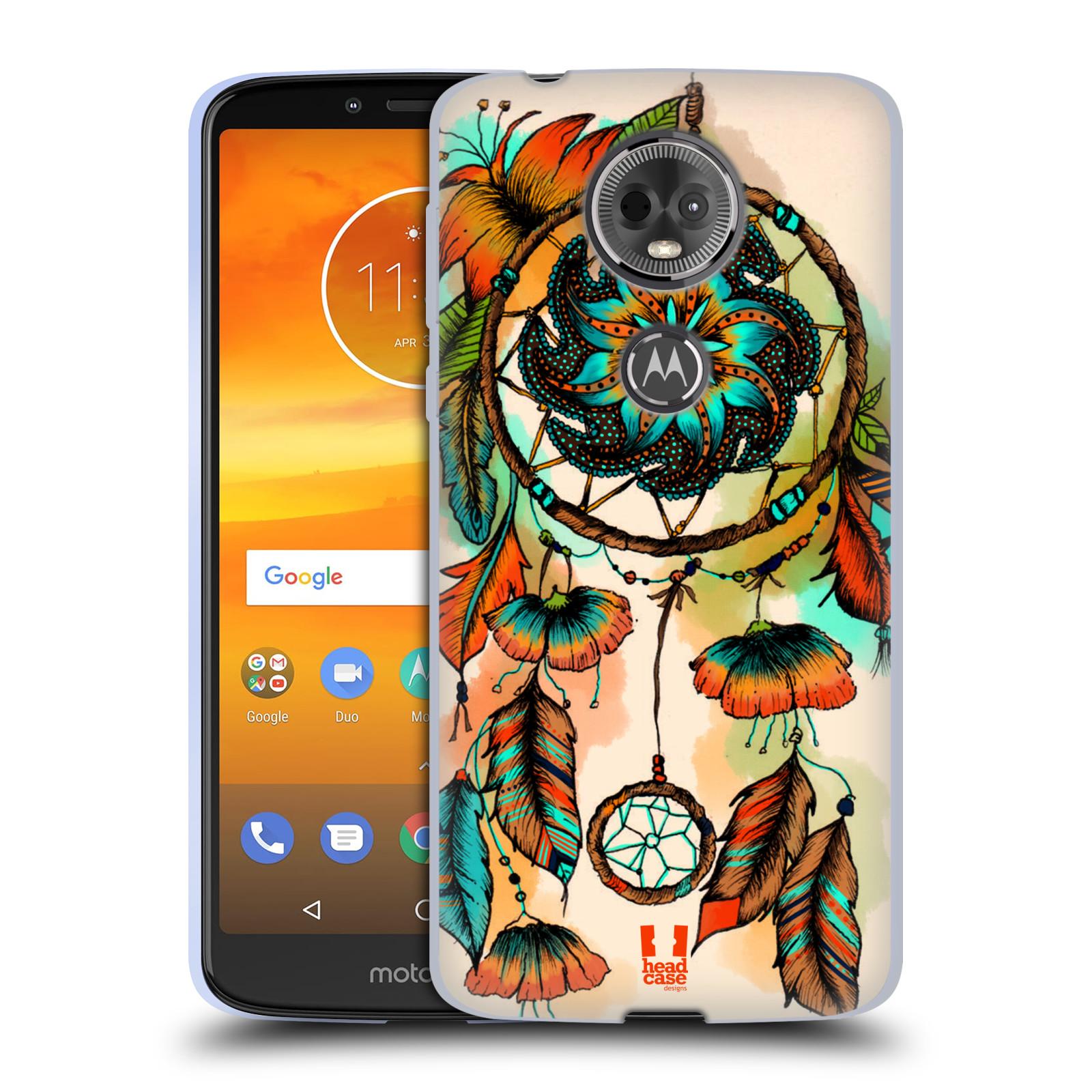 Silikonové pouzdro na mobil Motorola Moto E5 Plus - Head Case - BLOOM APRICOT