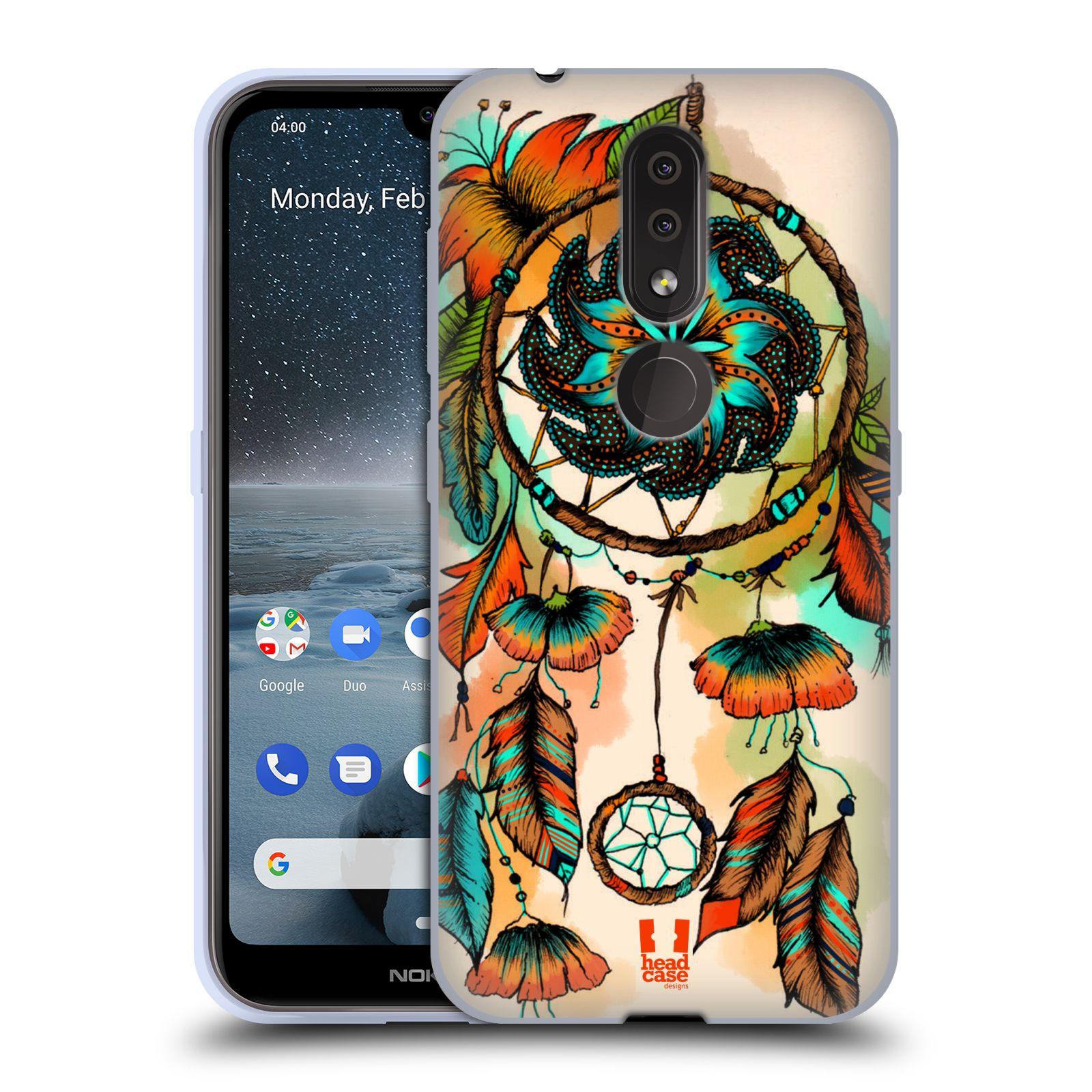 Silikonové pouzdro na mobil Nokia 4.2 - Head Case - BLOOM APRICOT