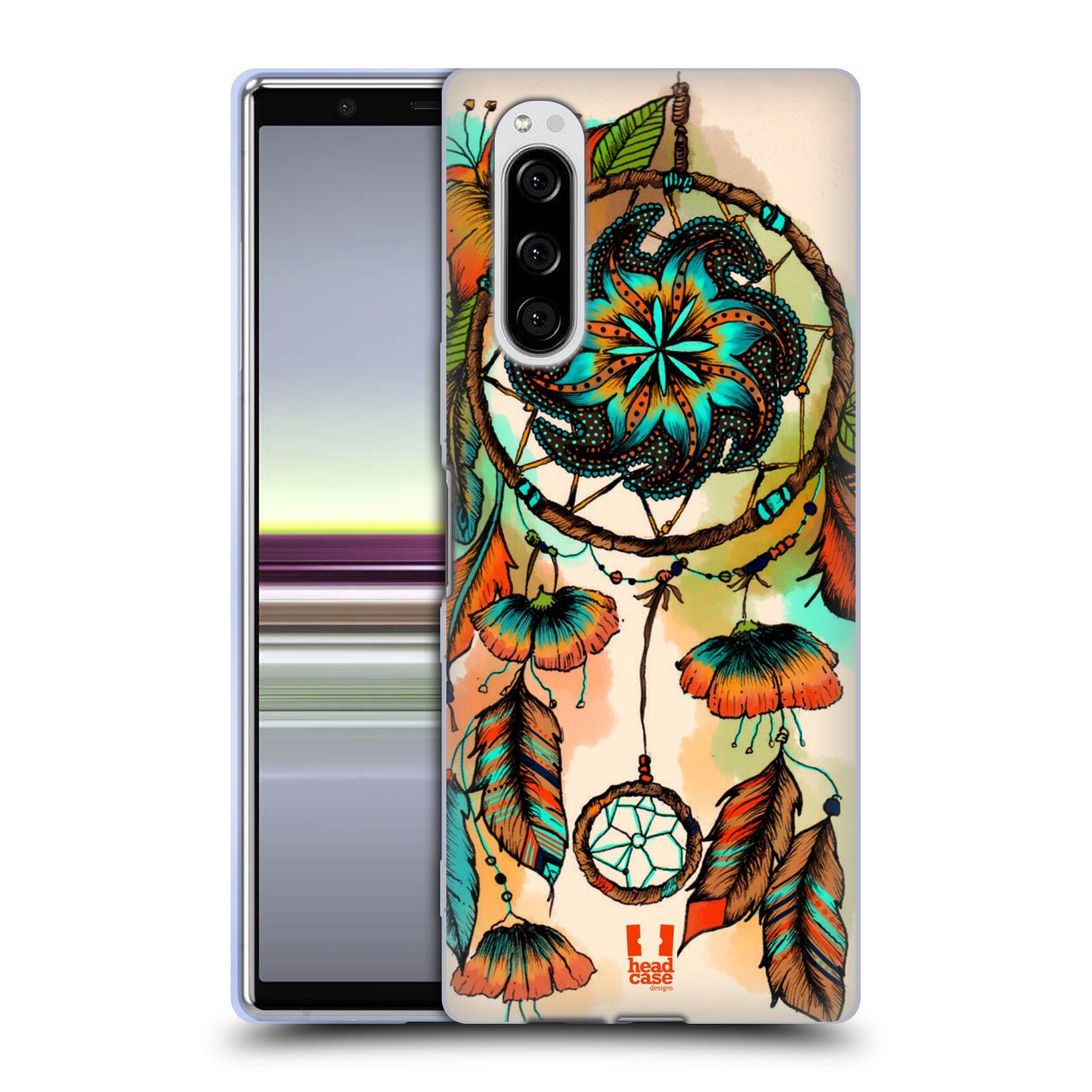 Silikonové pouzdro na mobil Sony Xperia 5 - Head Case - BLOOM APRICOT