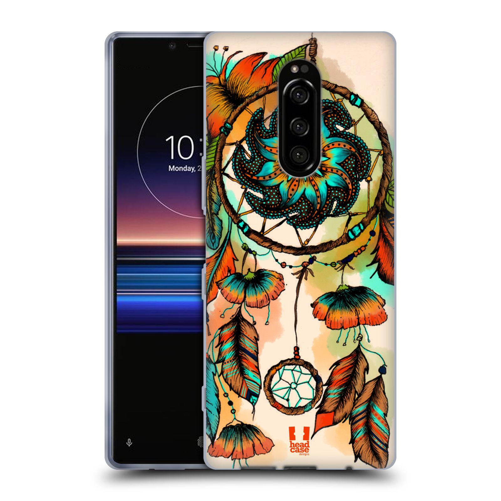 Silikonové pouzdro na mobil Sony Xperia 1 - Head Case - BLOOM APRICOT