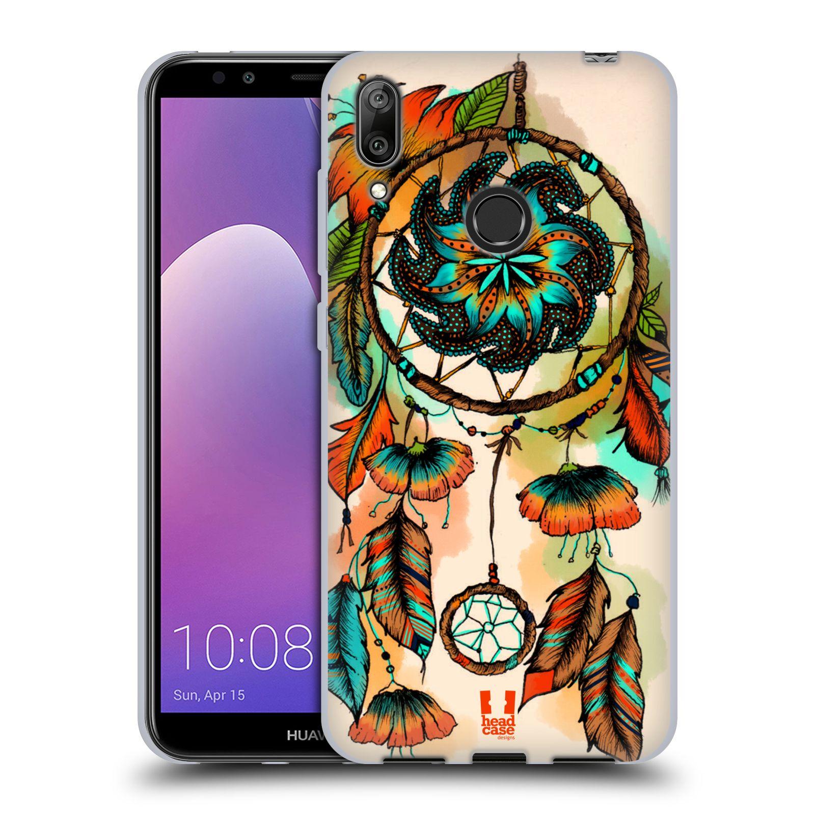 Silikonové pouzdro na mobil Huawei Y7 (2019) - Head Case - BLOOM APRICOT