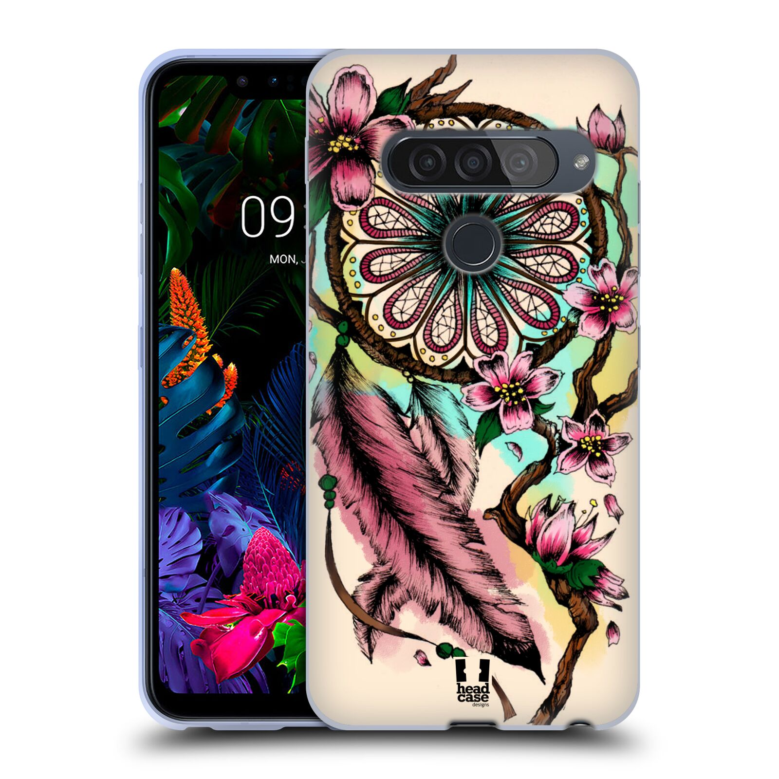 Silikonové pouzdro na mobil LG G8s ThinQ - Head Case - BLOOM BLOSSOMS