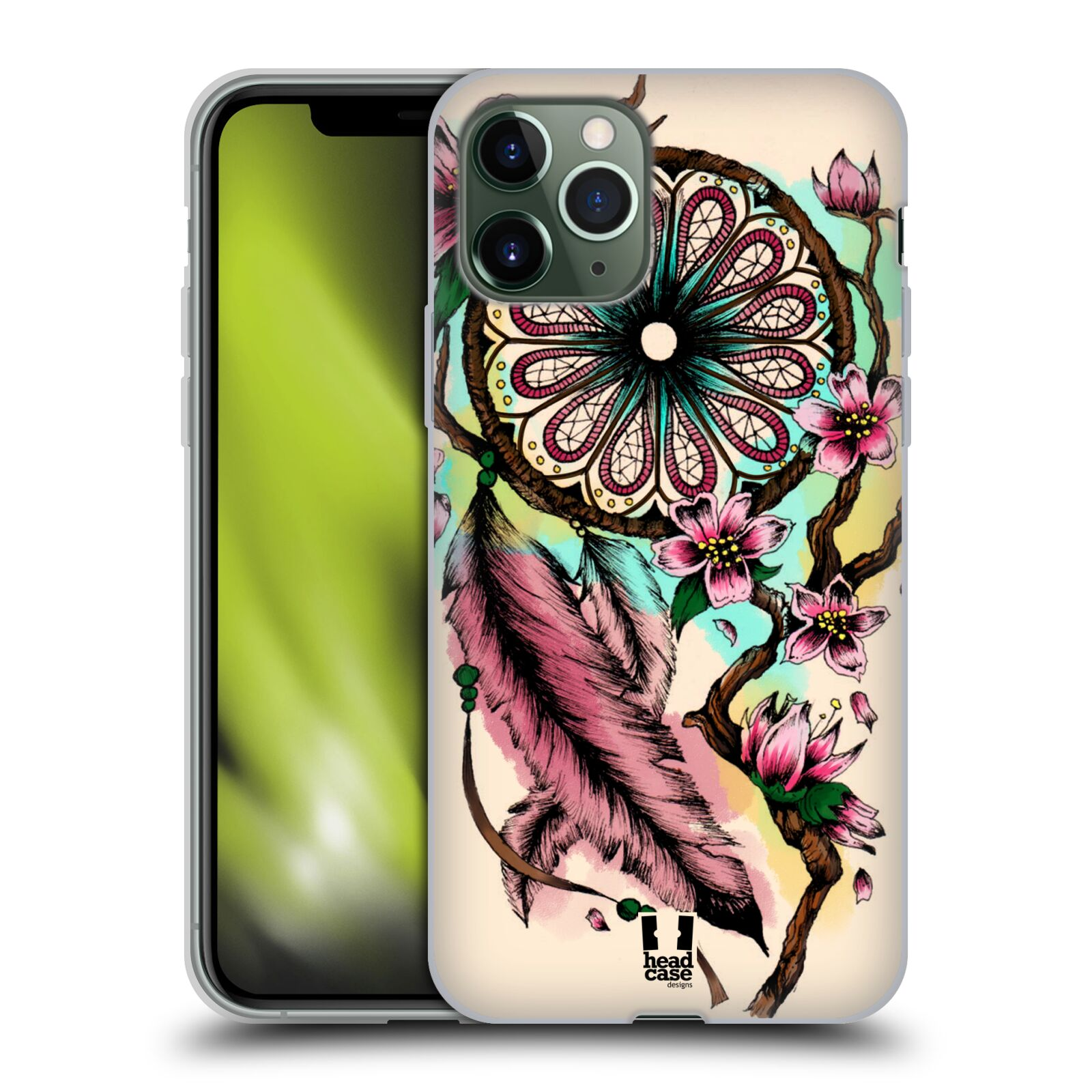 sklo krytu na iphone 7 plus , Silikonové pouzdro na mobil Apple iPhone 11 Pro - Head Case - BLOOM BLOSSOMS