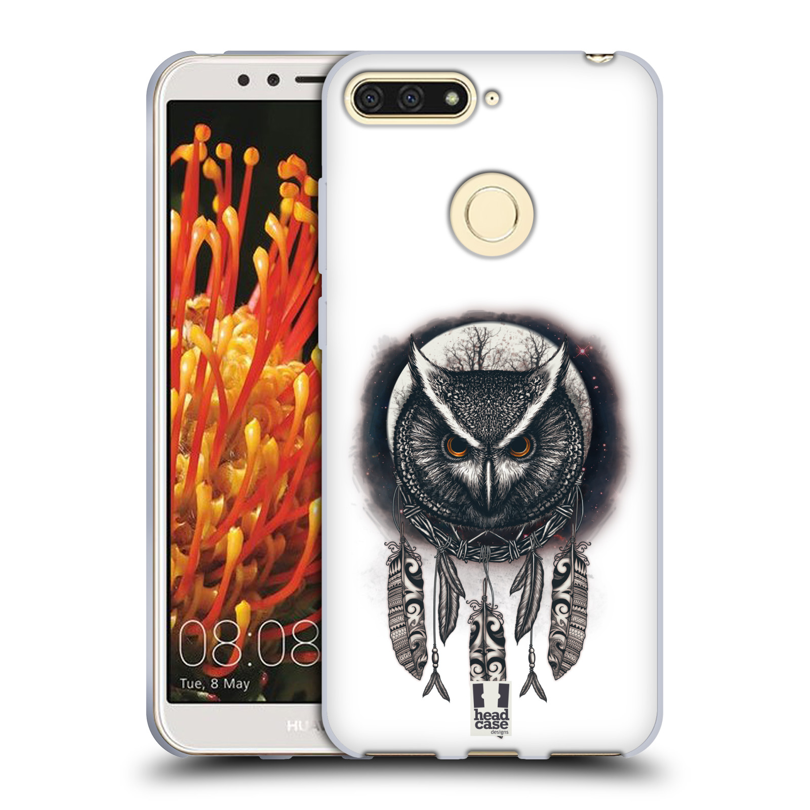 Silikonové pouzdro na mobil Huawei Y6 Prime (2018) - Head Case - Soví lapač