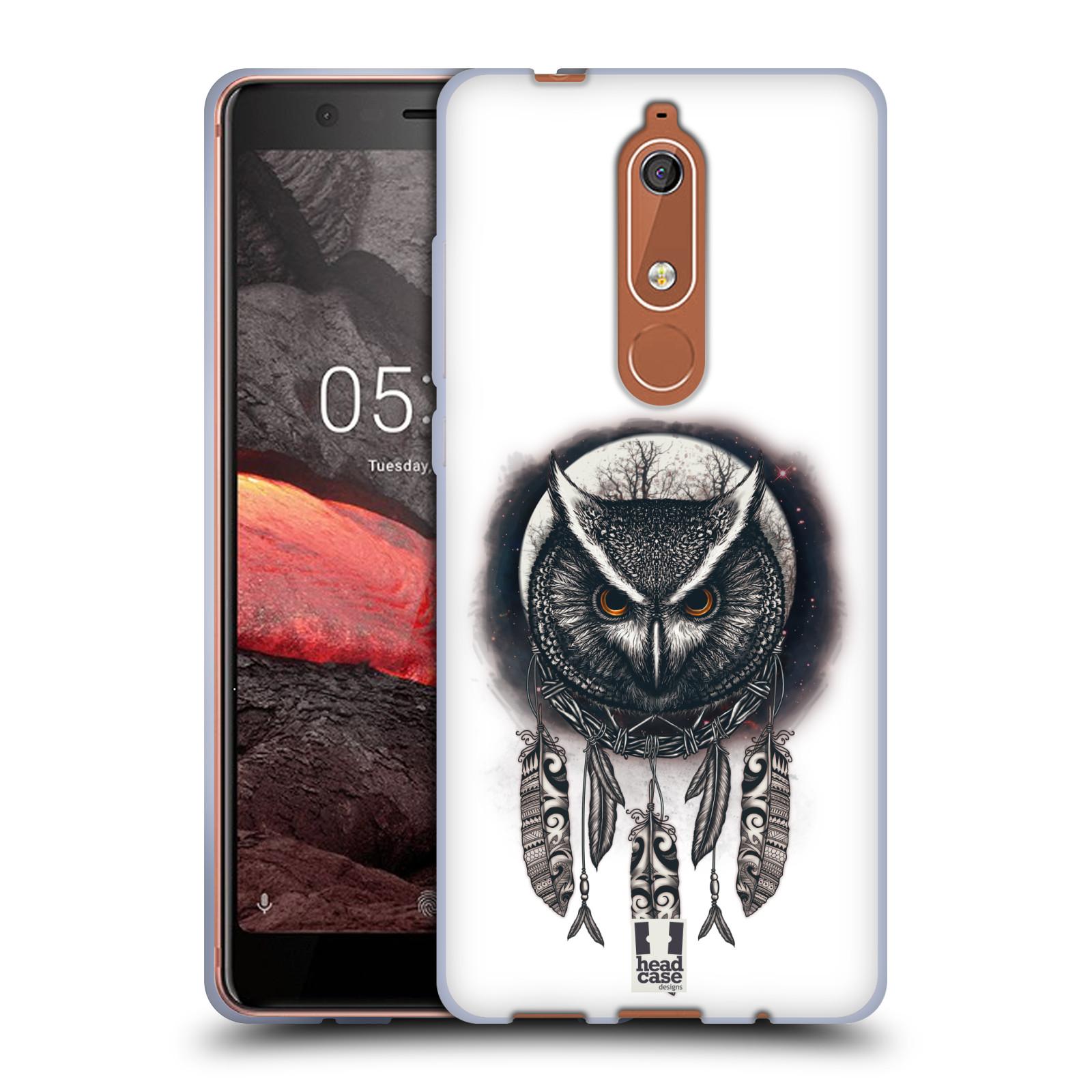 Silikonové pouzdro na mobil Nokia 5.1 - Head Case - Soví lapač