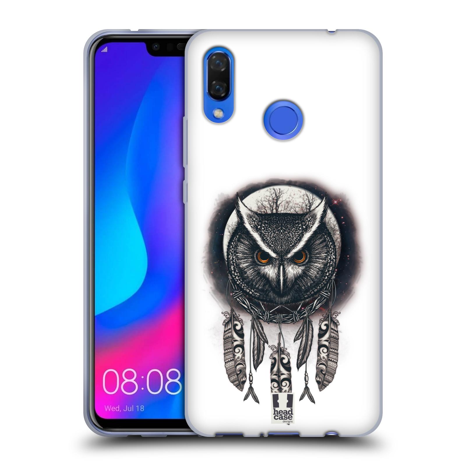Silikonové pouzdro na mobil Huawei Nova 3 - Head Case - Soví lapač
