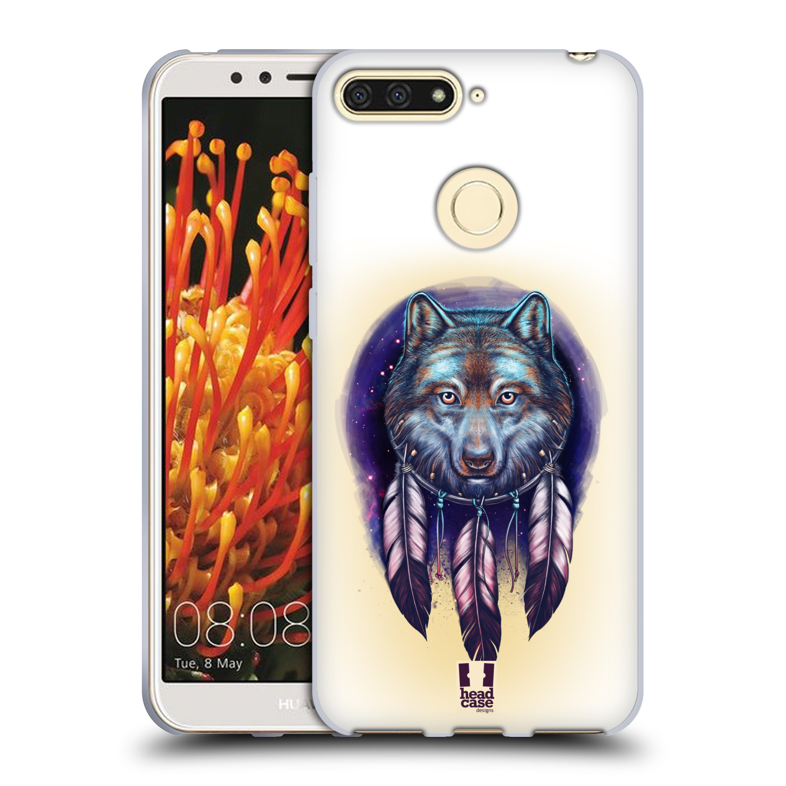 Silikonové pouzdro na mobil Honor 7A - Head Case - Vlčí lapač