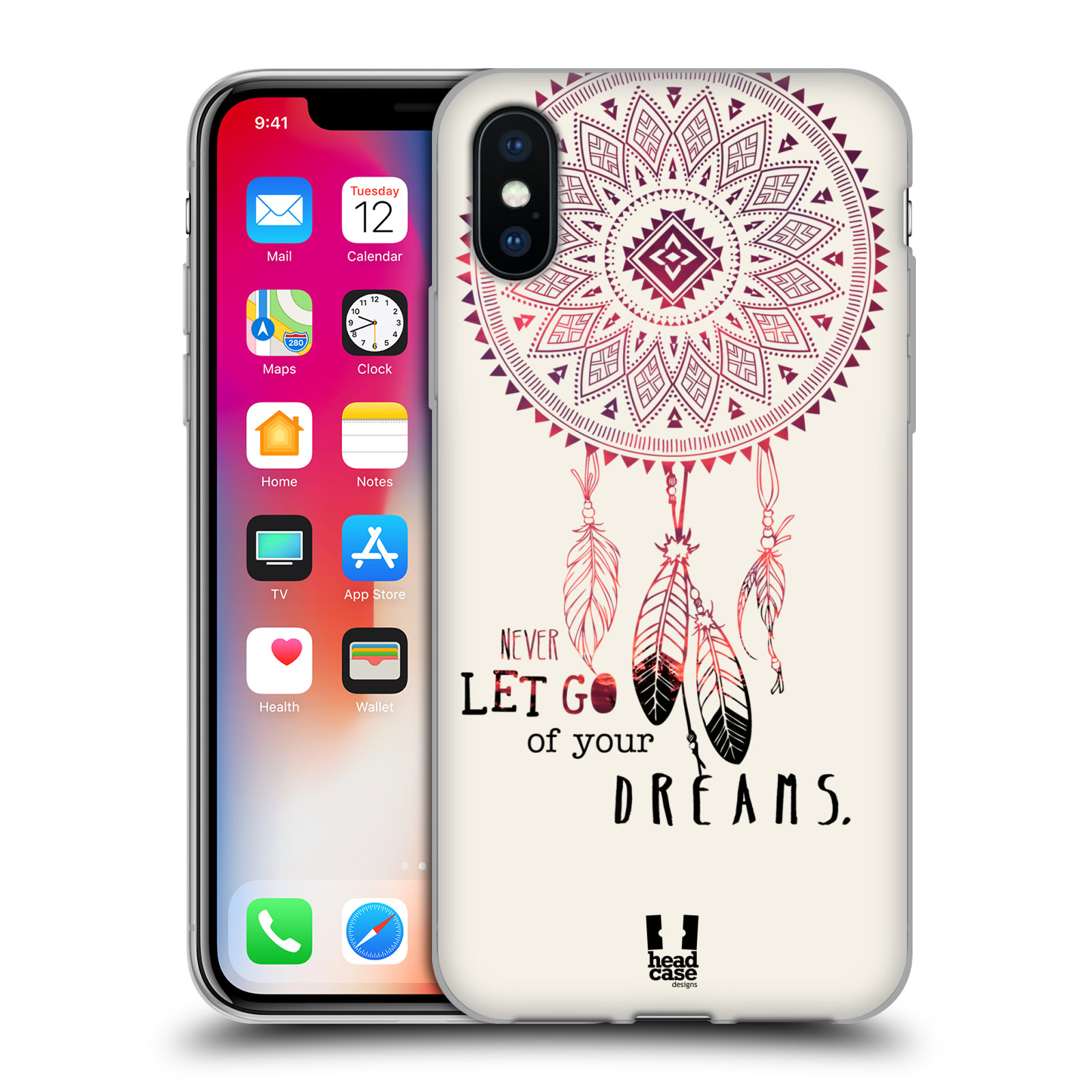 Silikonové pouzdro na mobil Apple iPhone XS - Head Case - LAPAČ NEVER DREAMS