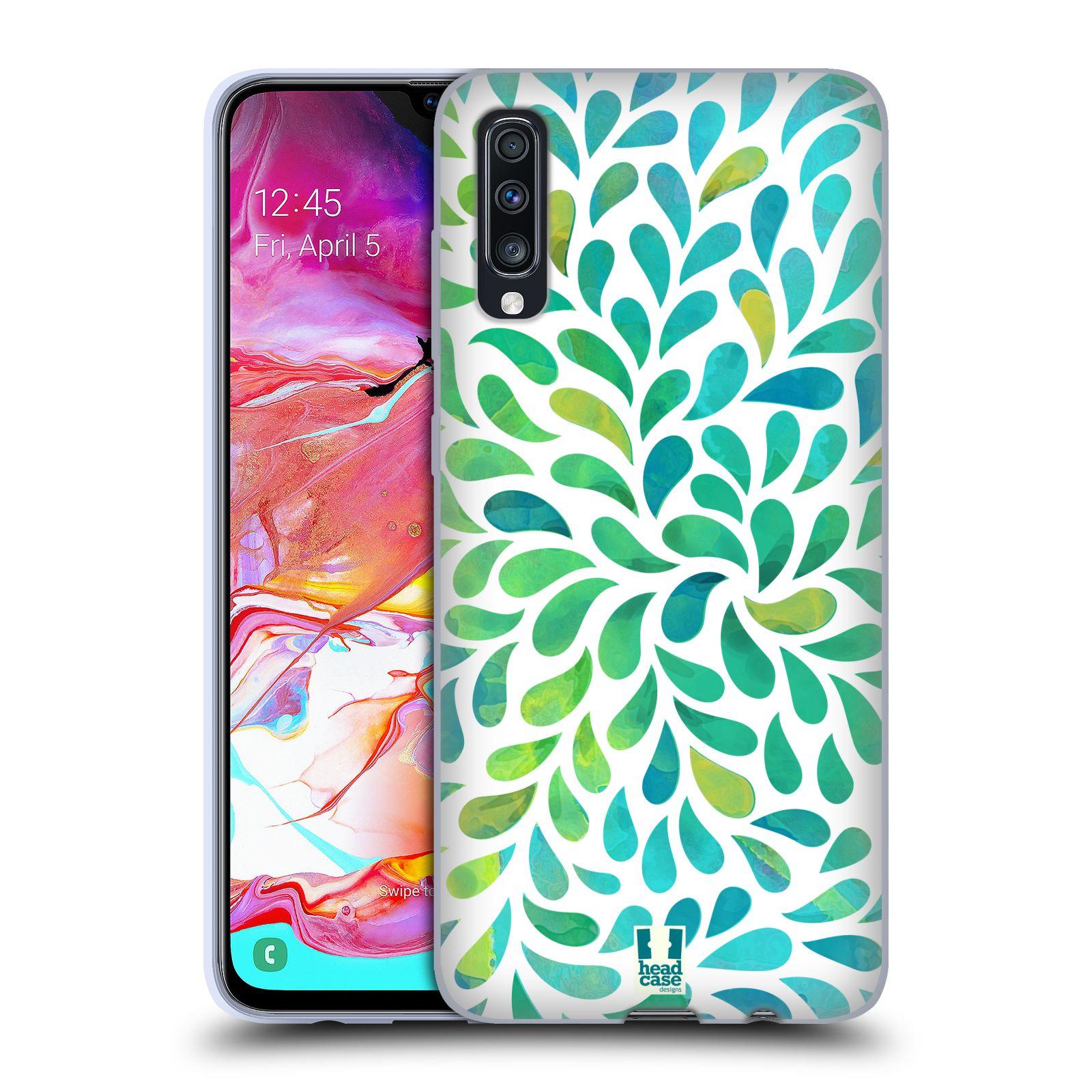 Silikonové pouzdro na mobil Samsung Galaxy A70 - Head Case - Droplet Wave Kapičky