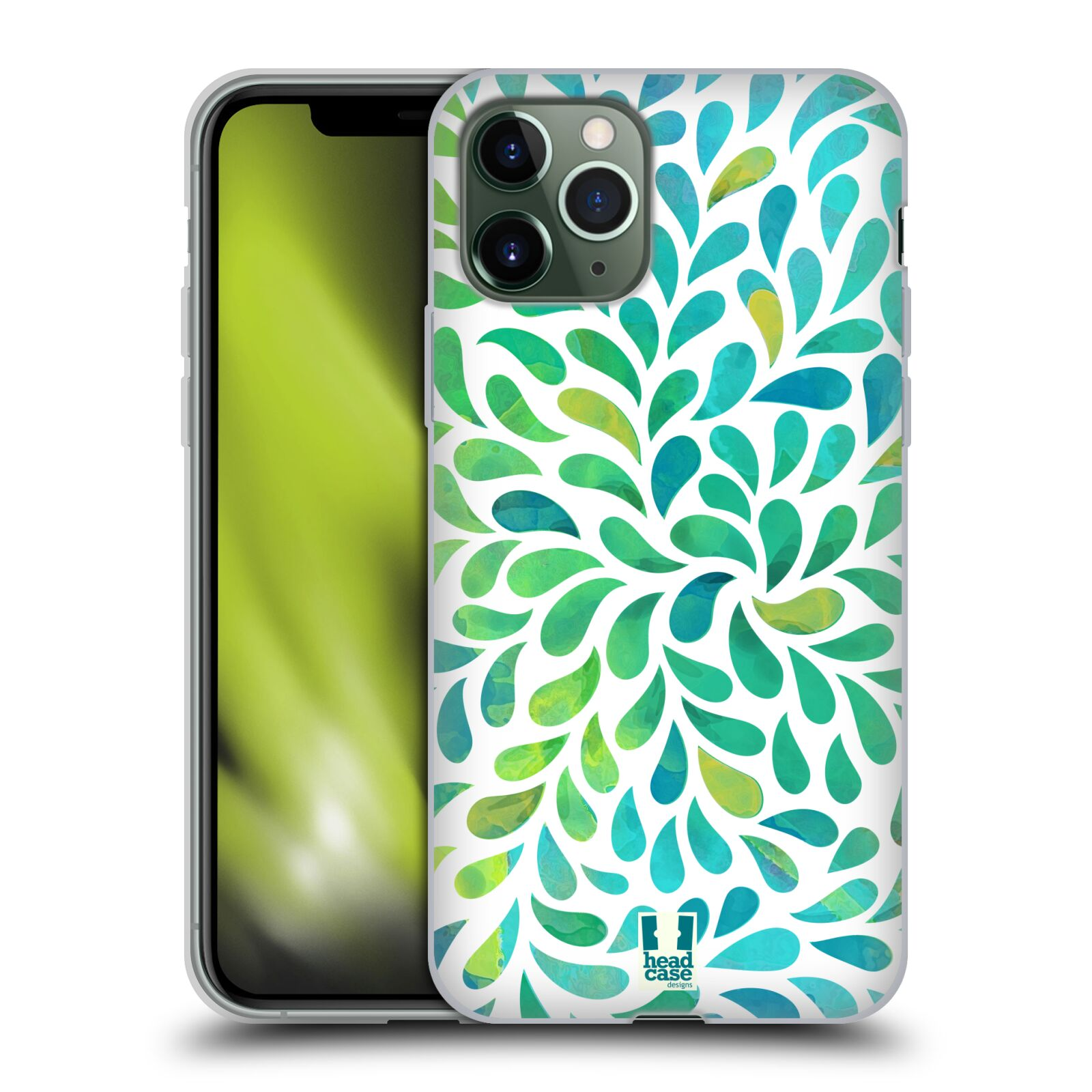 gucci iphone 8 plus , Silikonové pouzdro na mobil Apple iPhone 11 Pro - Head Case - Droplet Wave Kapičky