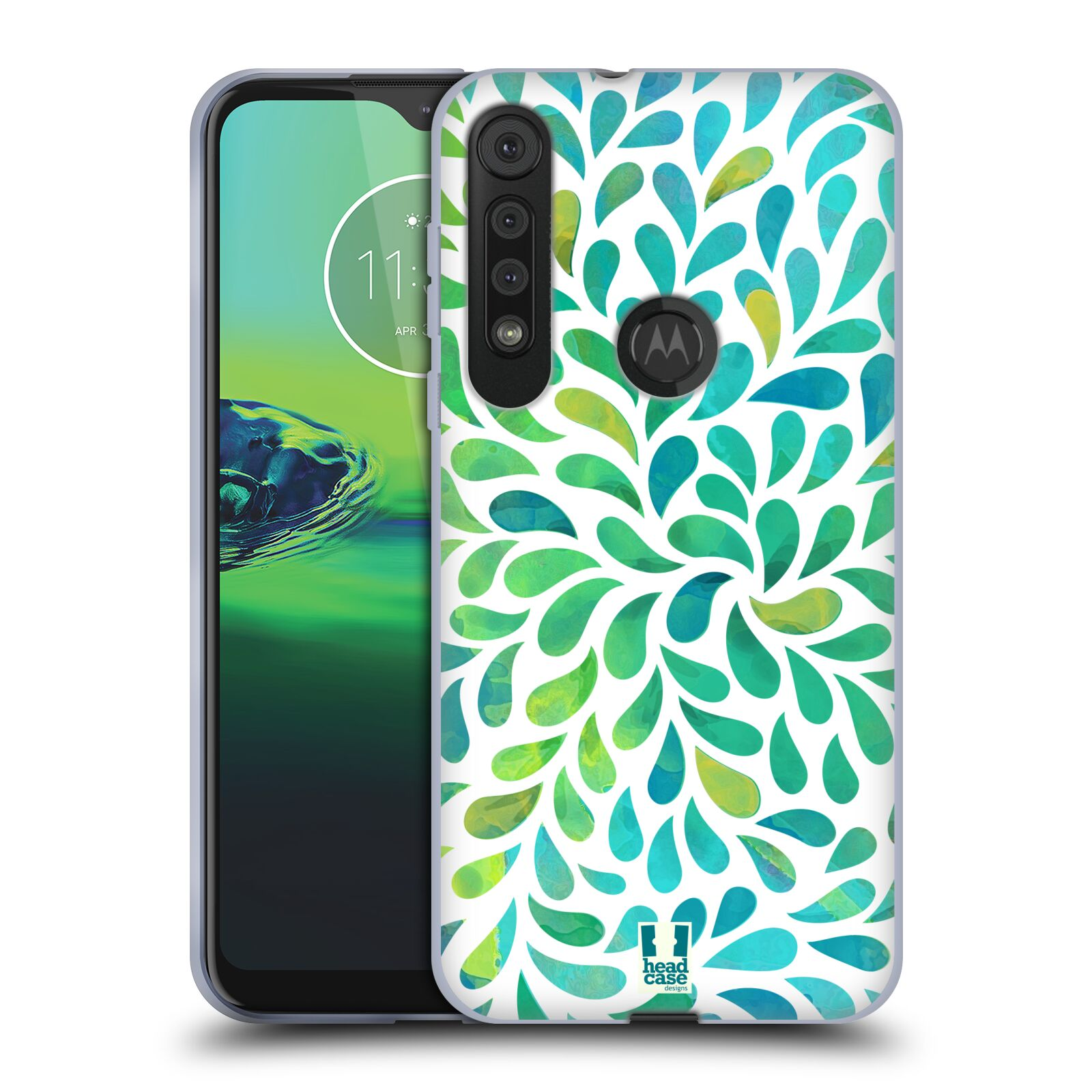 Silikonové pouzdro na mobil Motorola One Macro - Head Case - Droplet Wave Kapičky