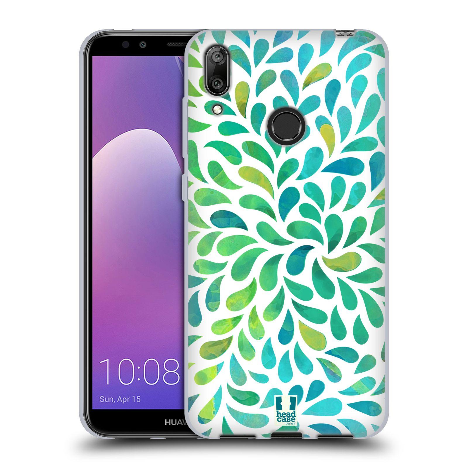 Silikonové pouzdro na mobil Huawei Y7 (2019) - Head Case - Droplet Wave Kapičky