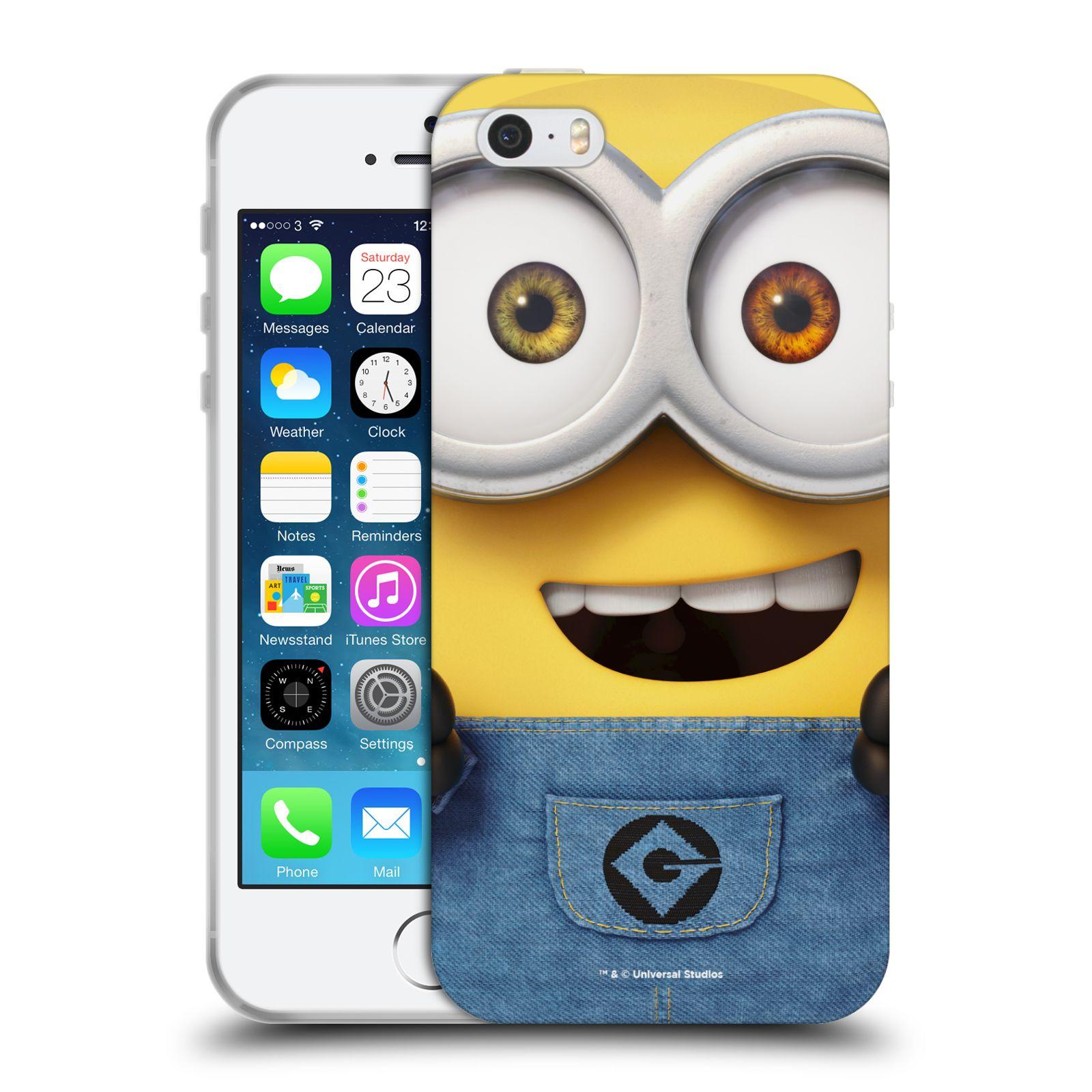 Silikonové pouzdro na mobil Apple iPhone 5, 5S, SE - Head Case - Mimoň Bob z filmu Já, padouch - Despicable Me