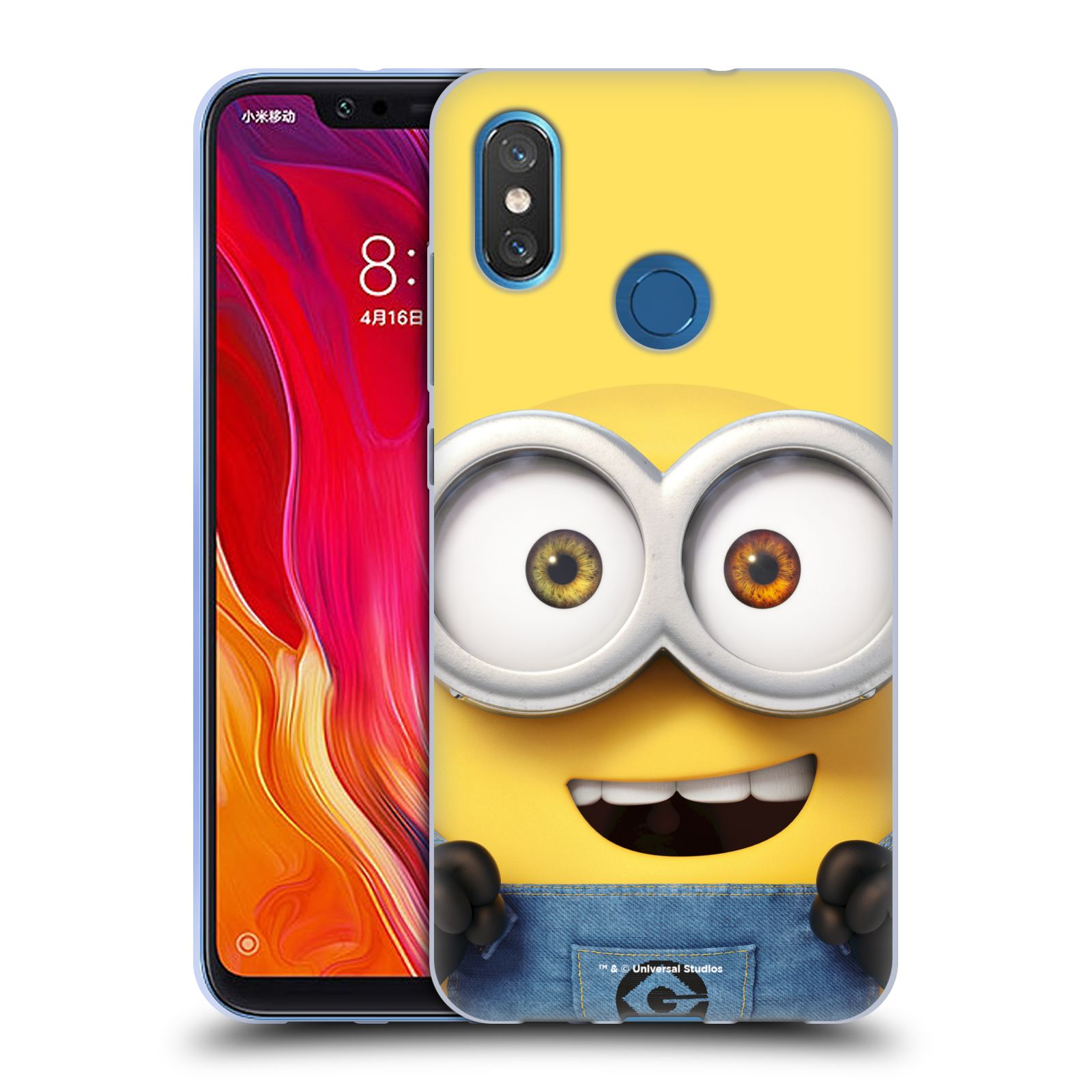 Silikonové pouzdro na mobil Xiaomi Mi8 - Head Case - Mimoň Bob z filmu Já, padouch - Despicable Me