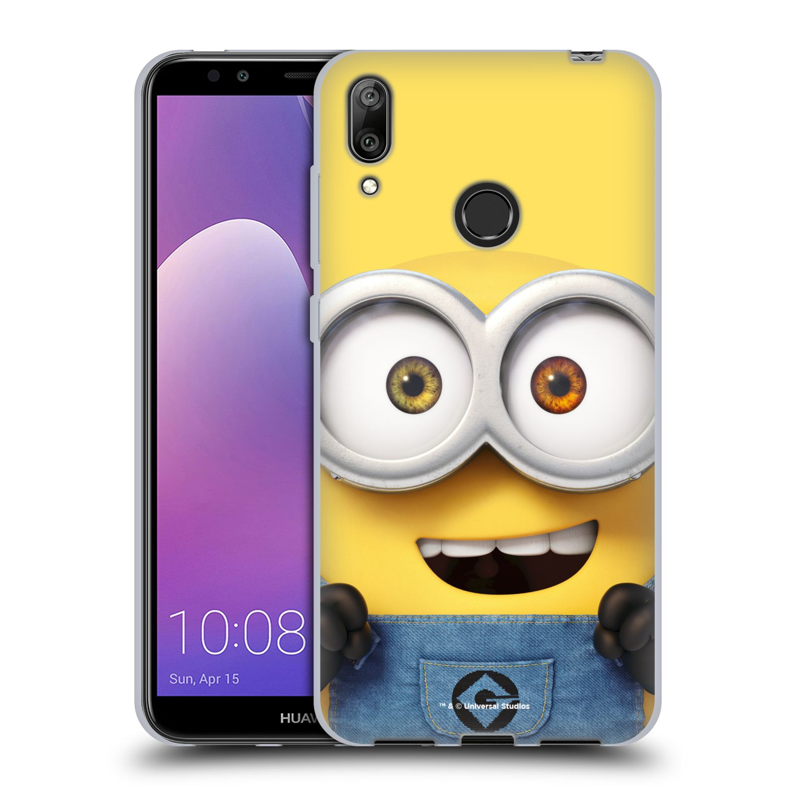 Silikonové pouzdro na mobil Huawei Y7 (2019) - Head Case - Mimoň Bob z filmu Já, padouch - Despicable Me