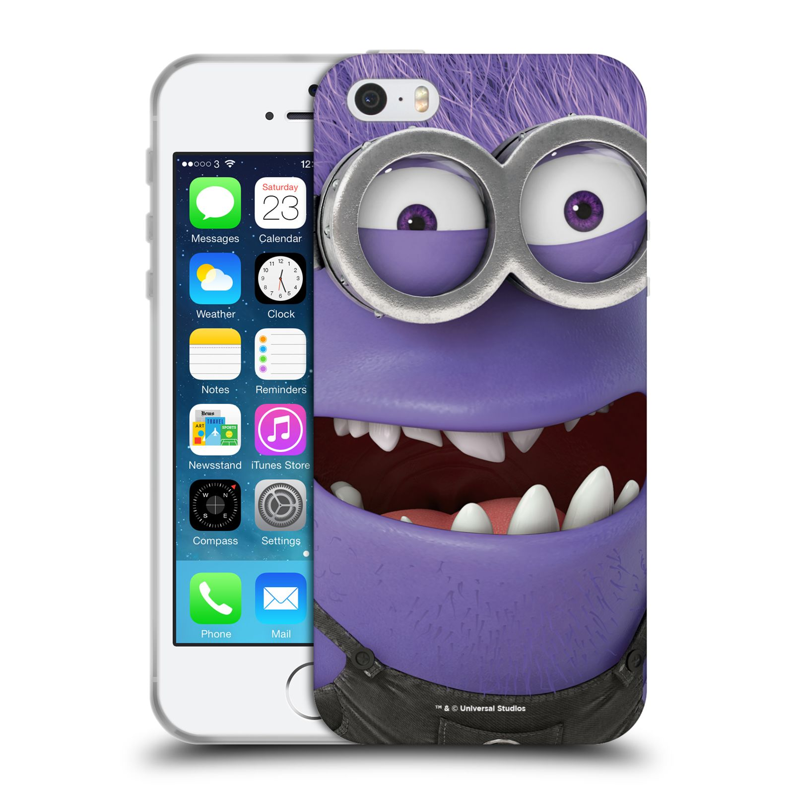 Silikonové pouzdro na mobil Apple iPhone 5, 5S, SE - Head Case - Zlý Mimoň z filmu Já, padouch - Despicable Me